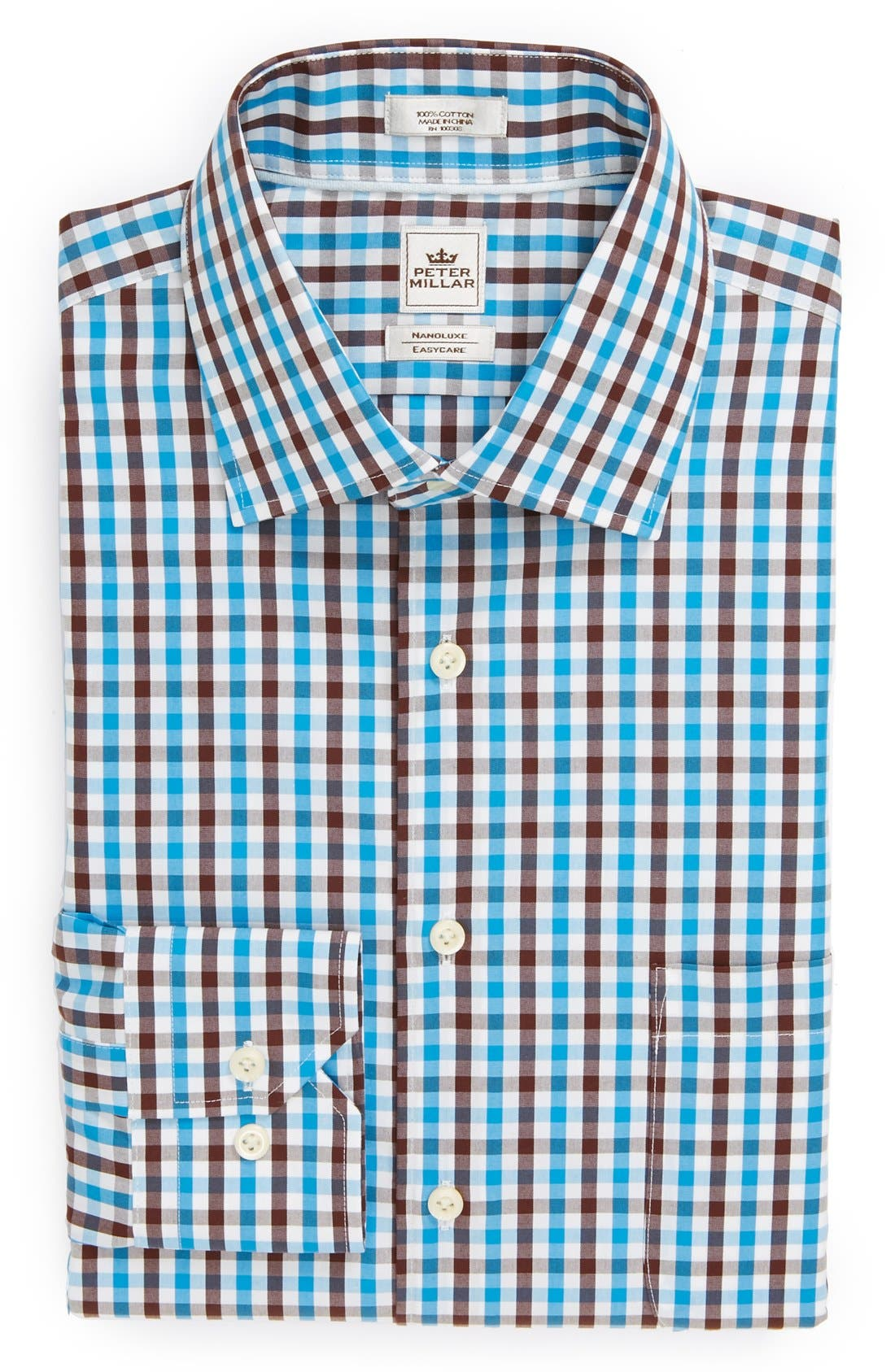 PETER MILLAR,                             'Nanoluxe' Regular Fit Easy Care Dress Shirt,                             Main thumbnail 1, color,                             400