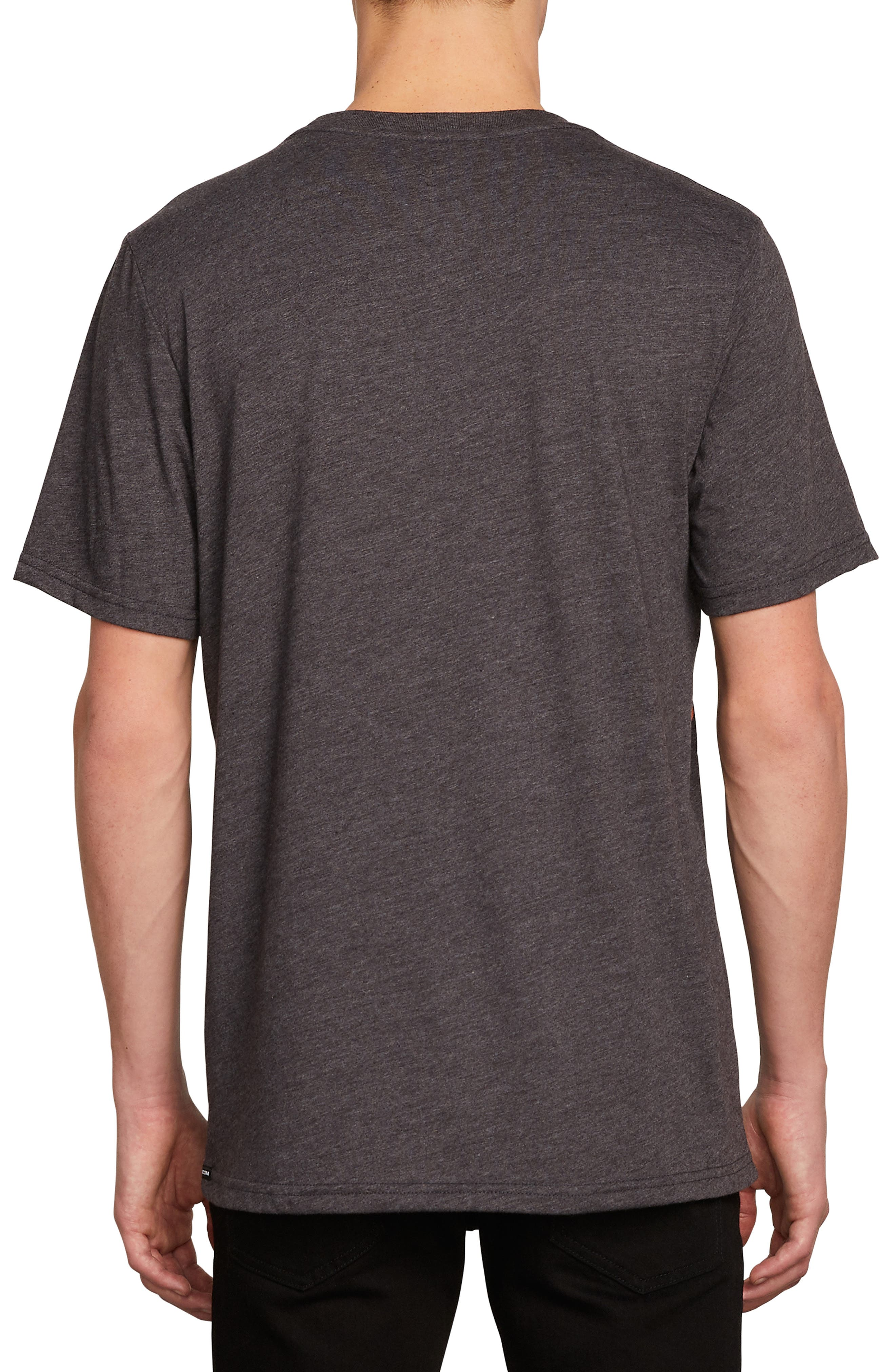 Garden Print Pocket T-Shirt,                             Alternate thumbnail 2, color,                             BLACK HEATHER