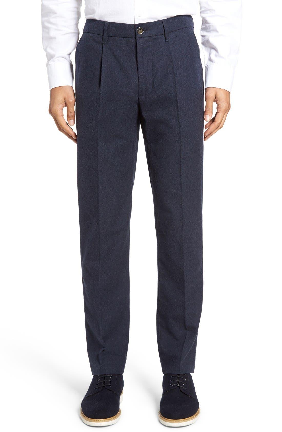 BONOBOS Slim Fit Flannel Trousers, Main, color, 400