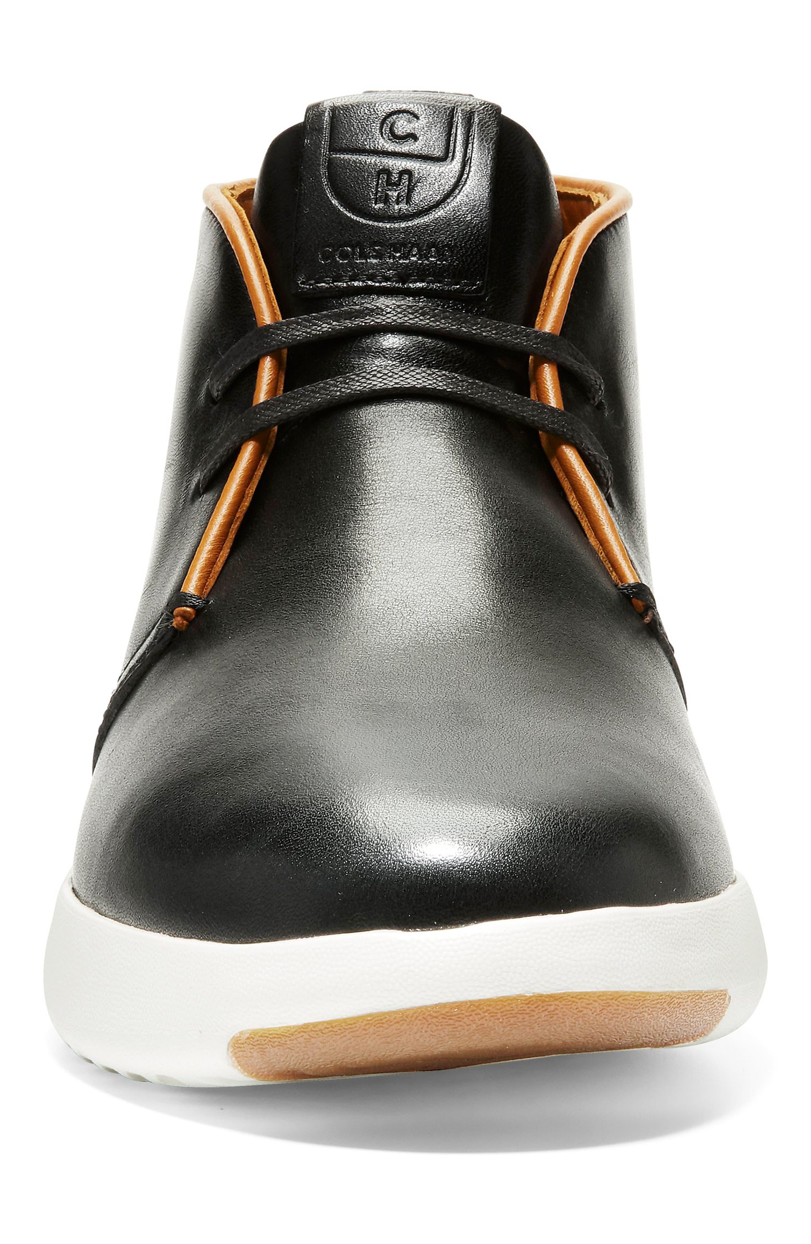 GrandPro Chukka Boot,                             Alternate thumbnail 4, color,                             BLACK/ WHITE LEATHER
