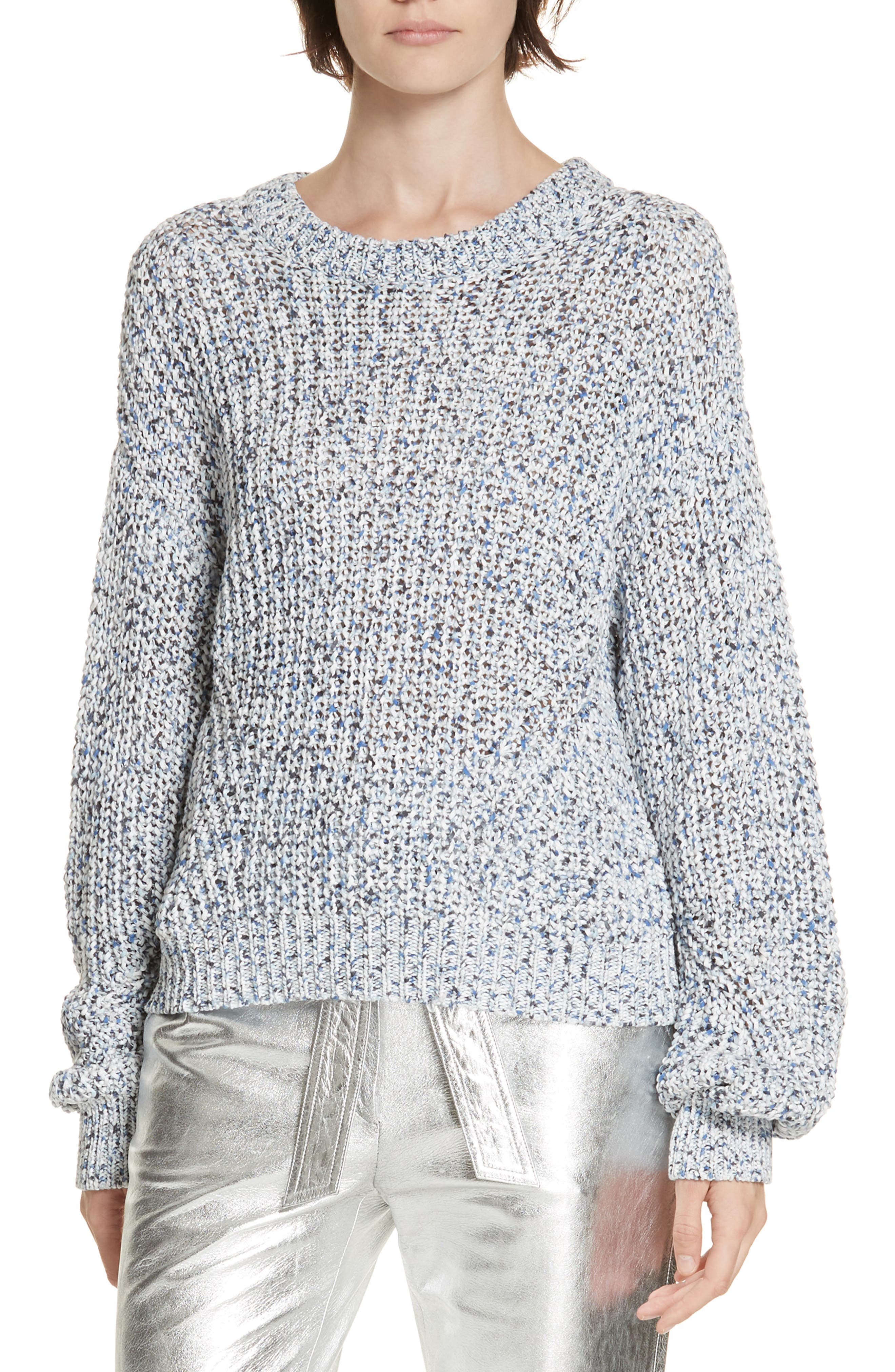Ryce Cotton Sweater,                         Main,                         color, BLUE MULIT