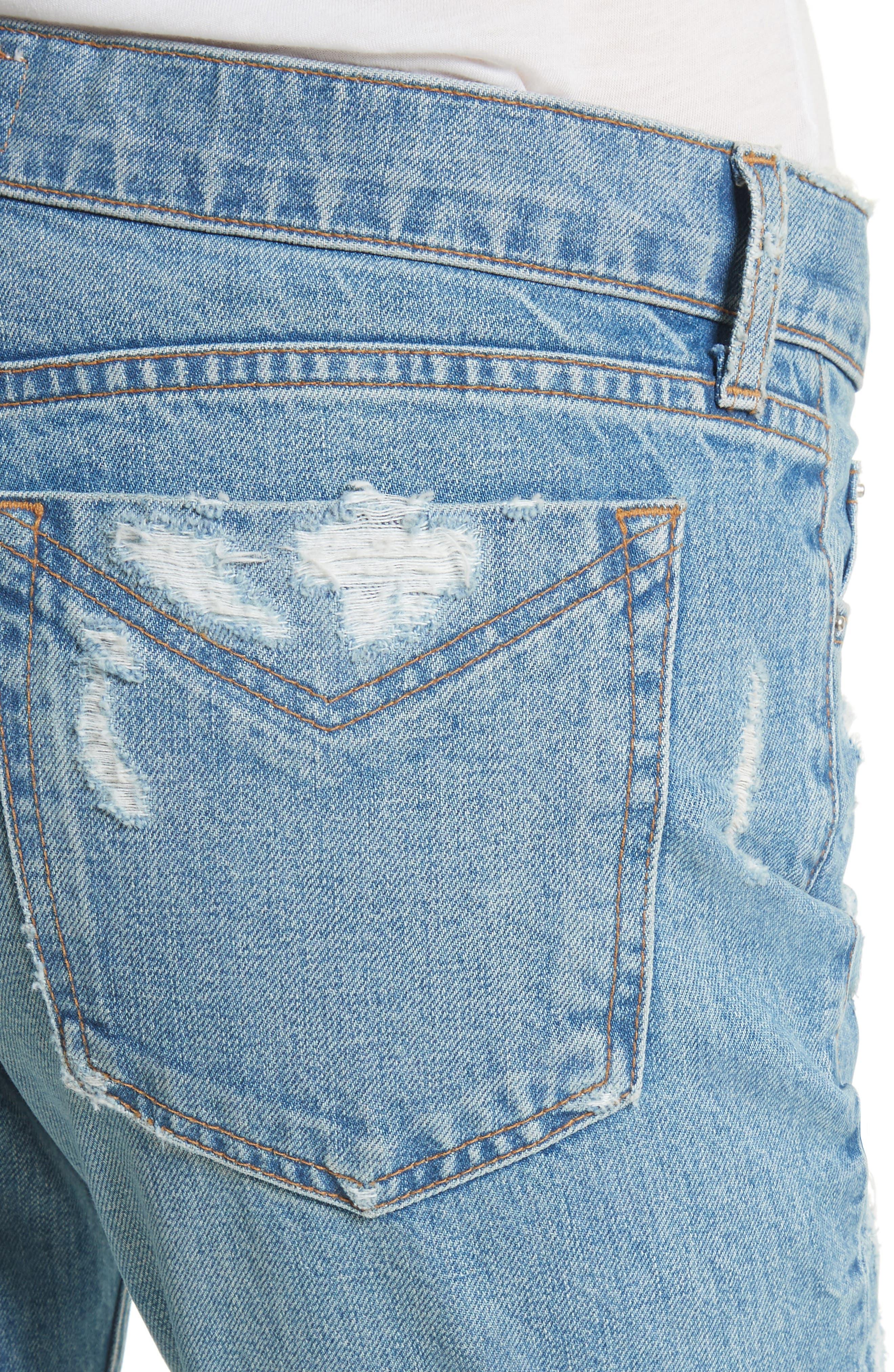 Mila Slim Girlfriend Jeans,                             Alternate thumbnail 4, color,                             450