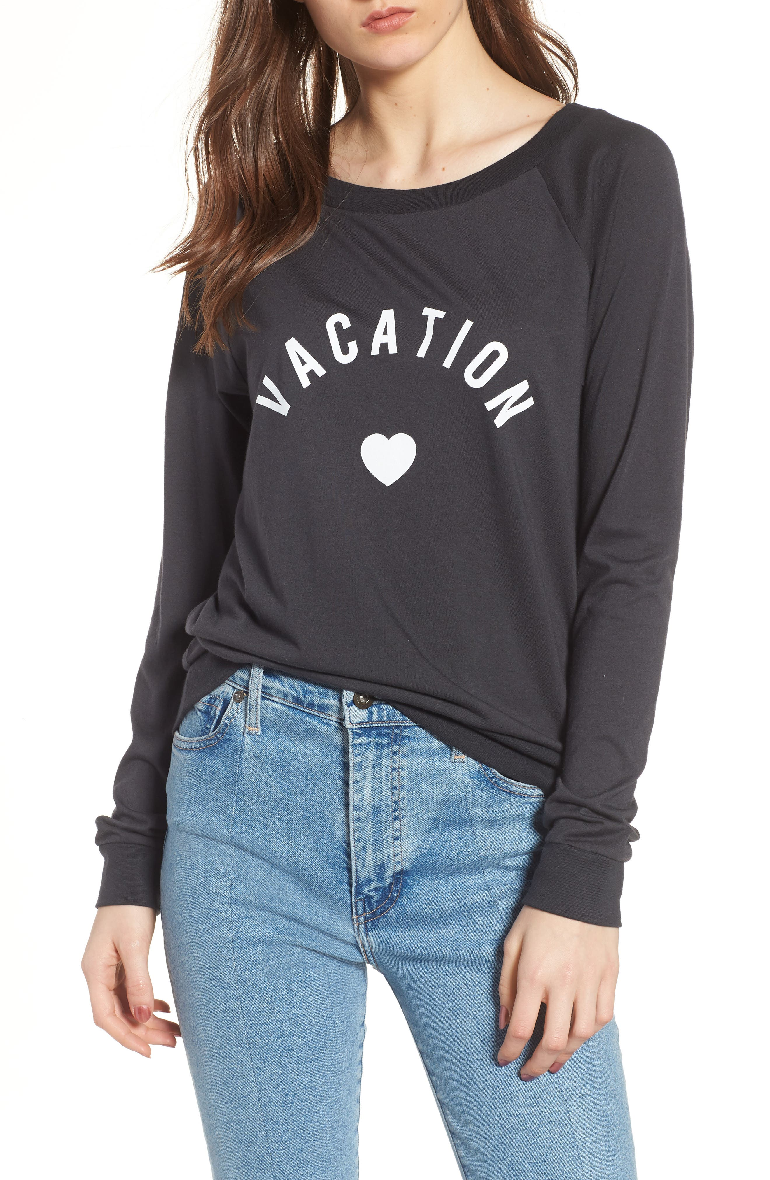 Candy - Vacation Pullover,                         Main,                         color, BLACK