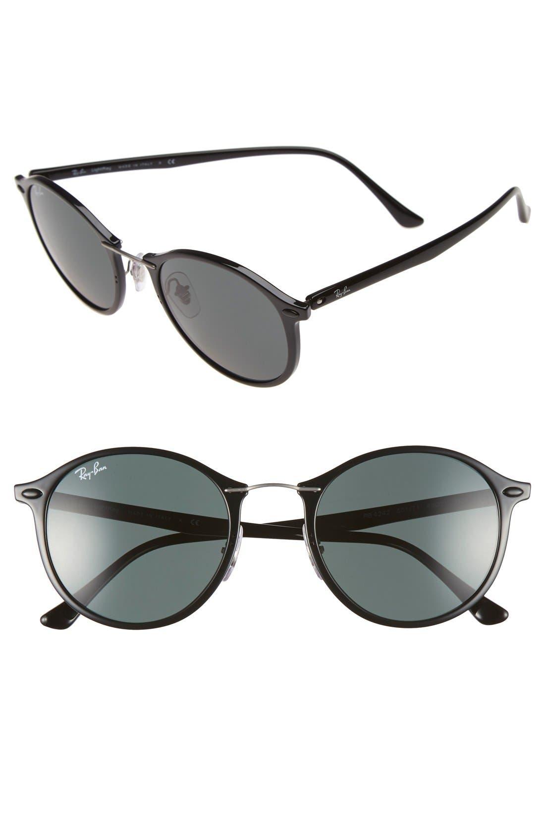 49mm Round Sunglasses,                         Main,                         color, 001