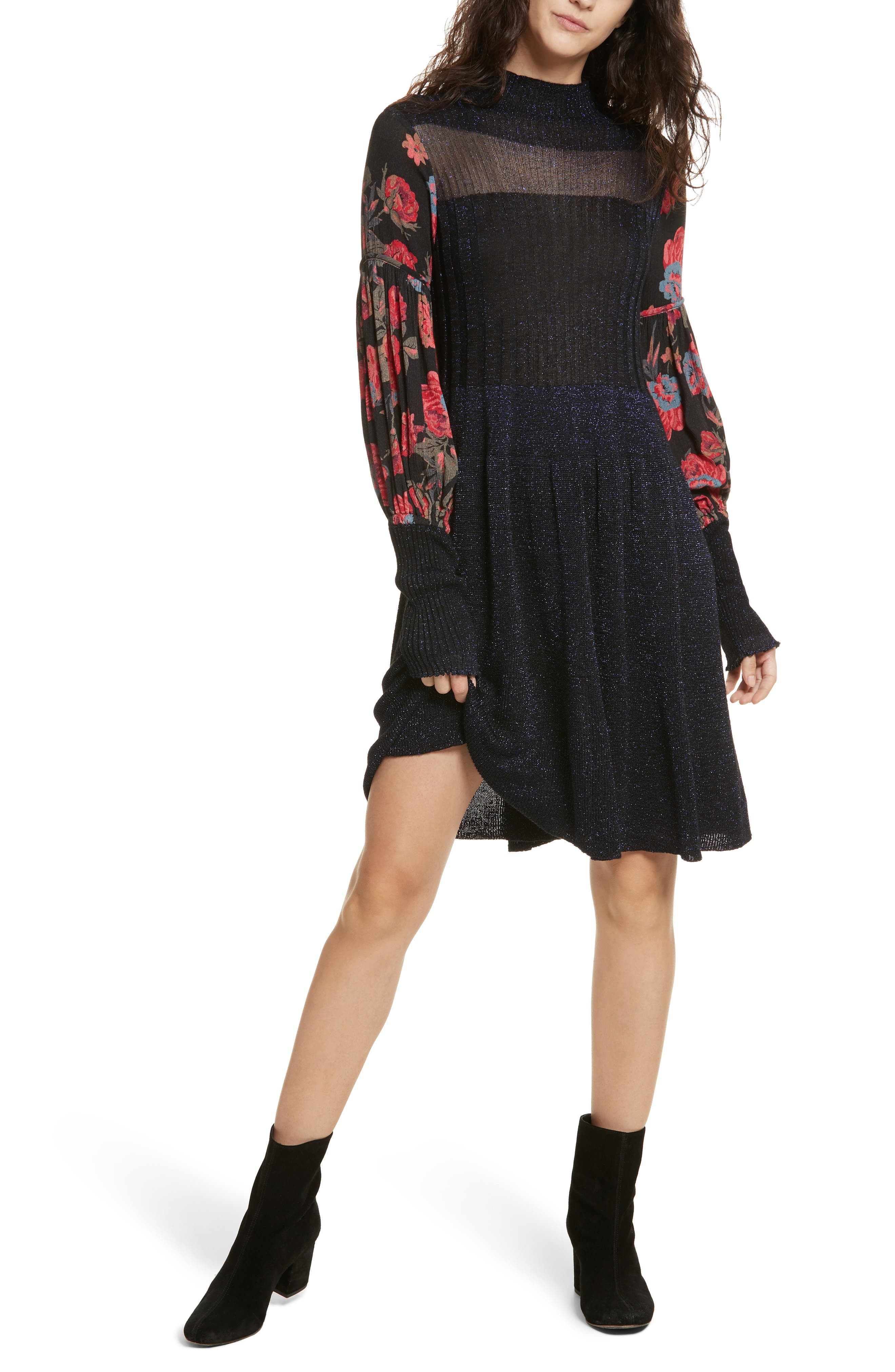 Rose & Shine Sweater Dress,                             Alternate thumbnail 5, color,