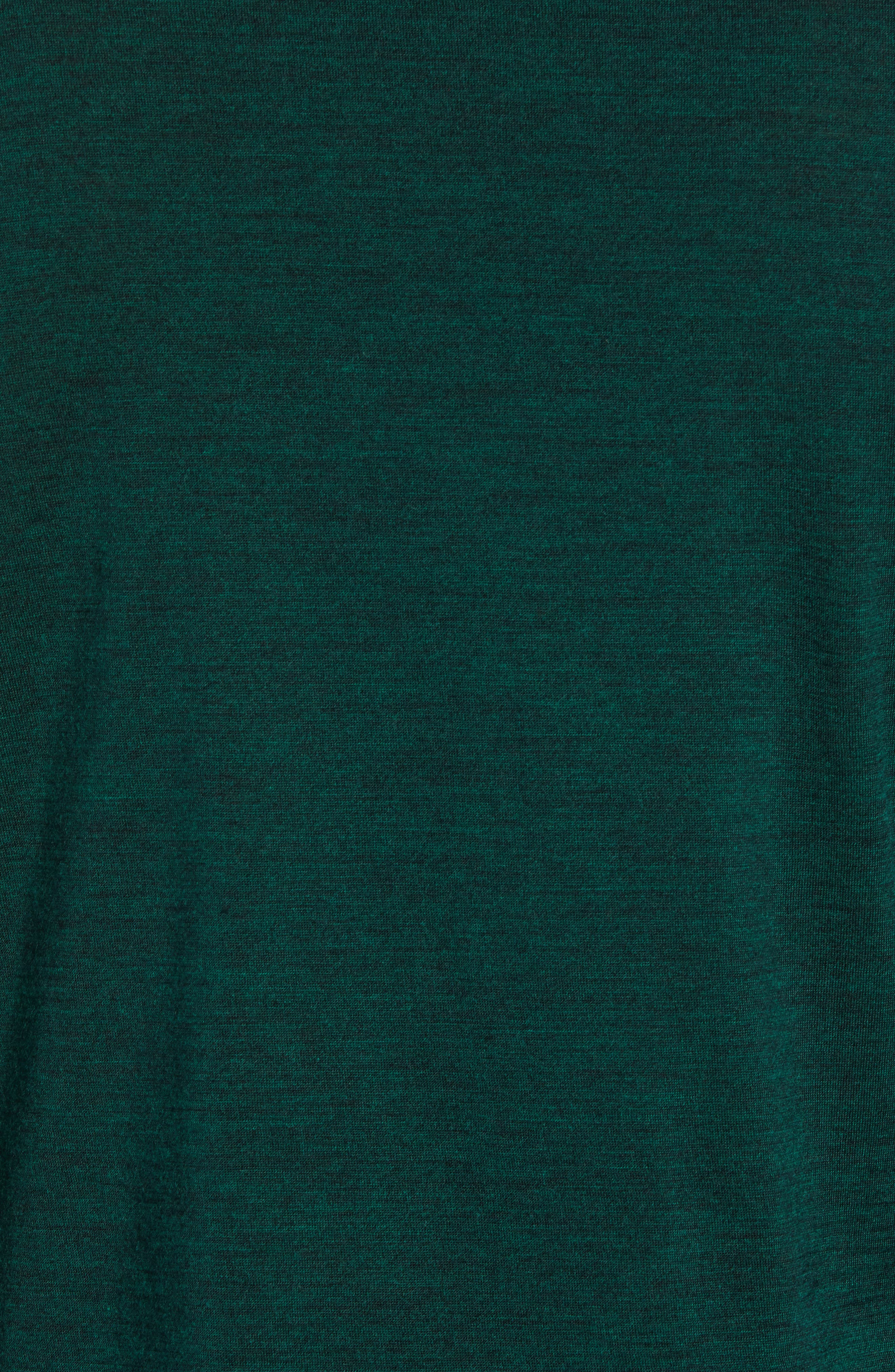 Oasis Slim Merino Wool T-Shirt,                             Alternate thumbnail 5, color,                             IMPERIAL HEATHER