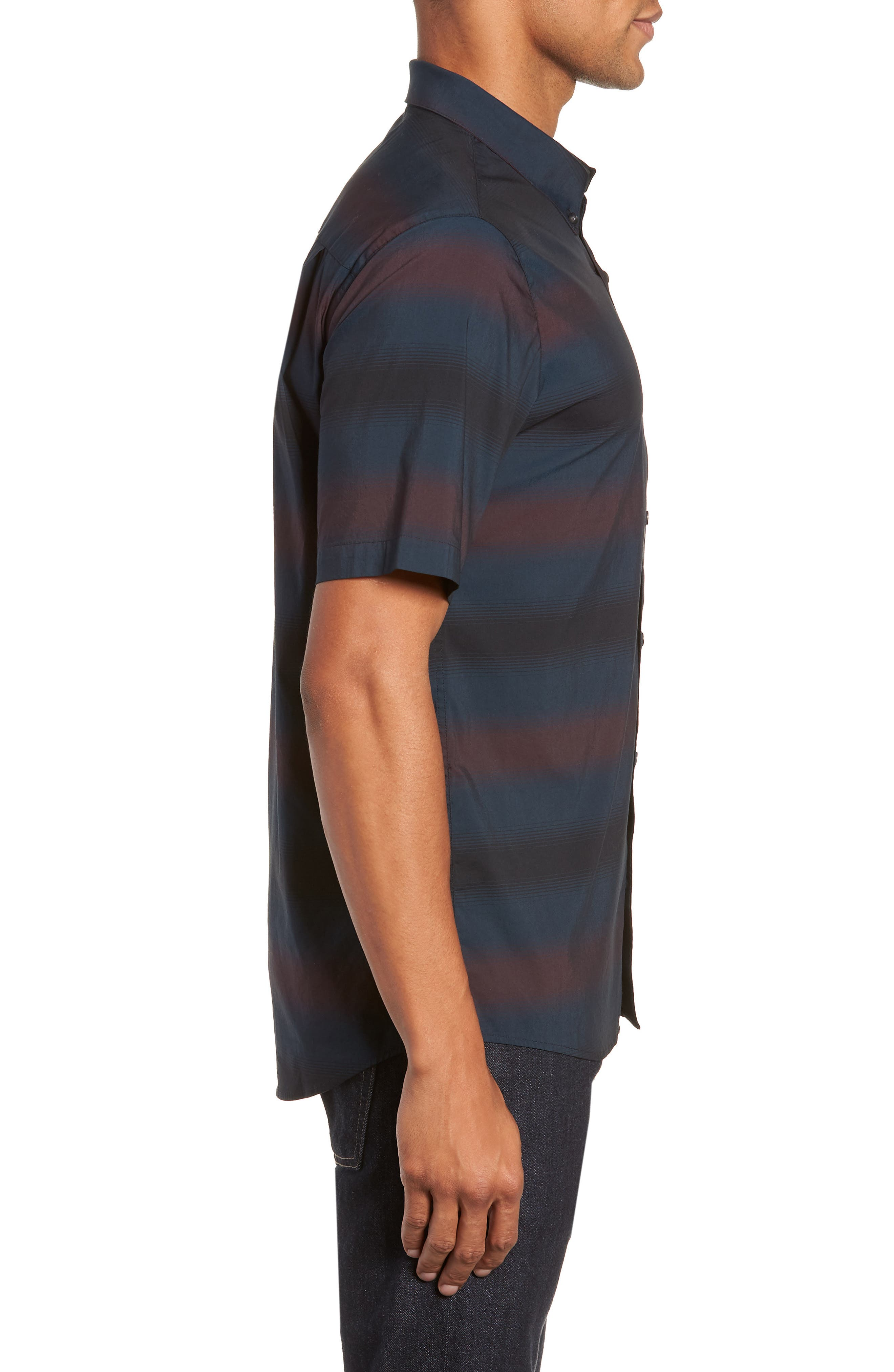 Magic Castle Regular Fit Sport Shirt,                             Alternate thumbnail 4, color,                             BLUE WING TEAL