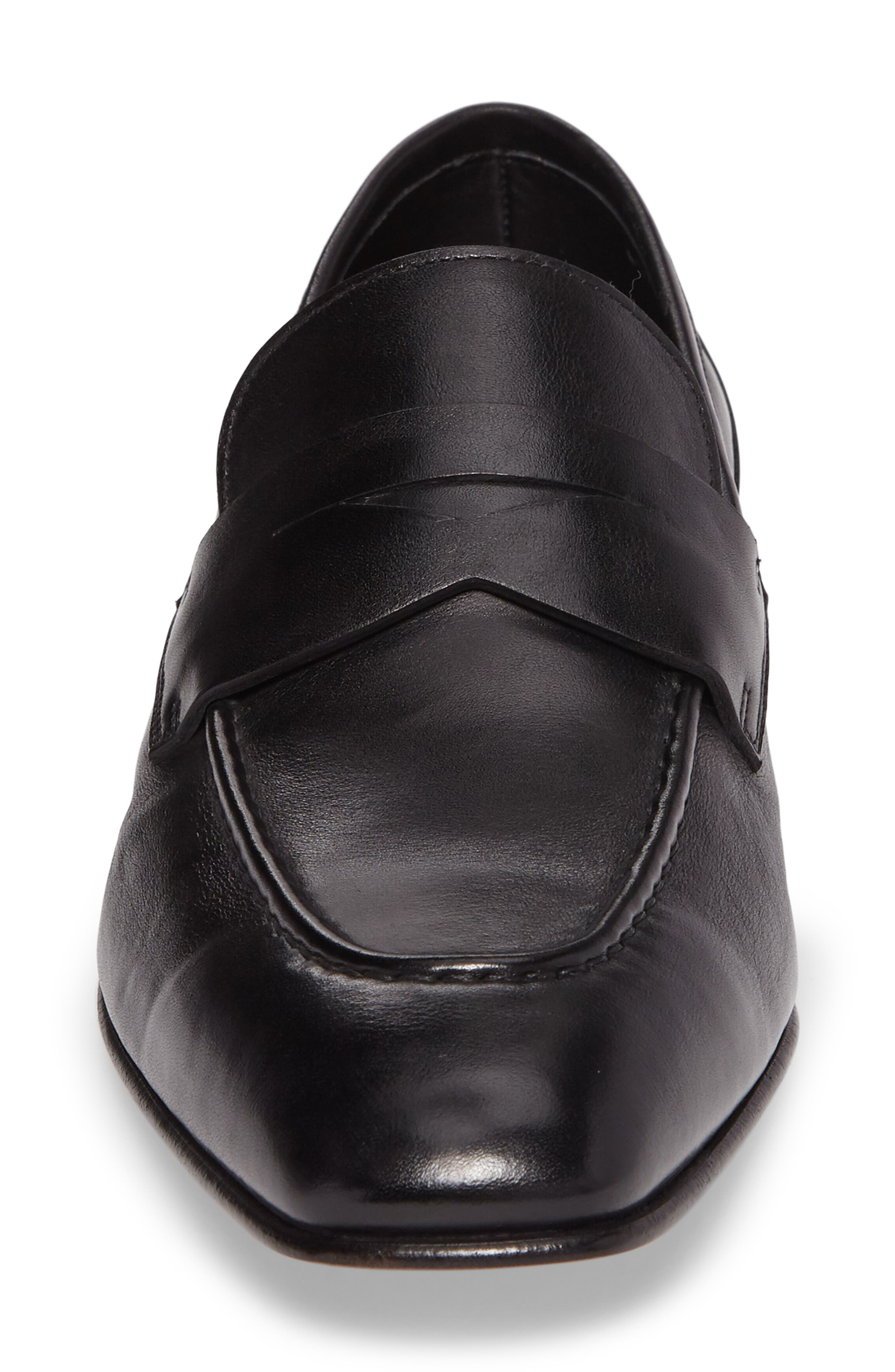 Gannon Penny Loafer,                             Alternate thumbnail 4, color,                             BLACK