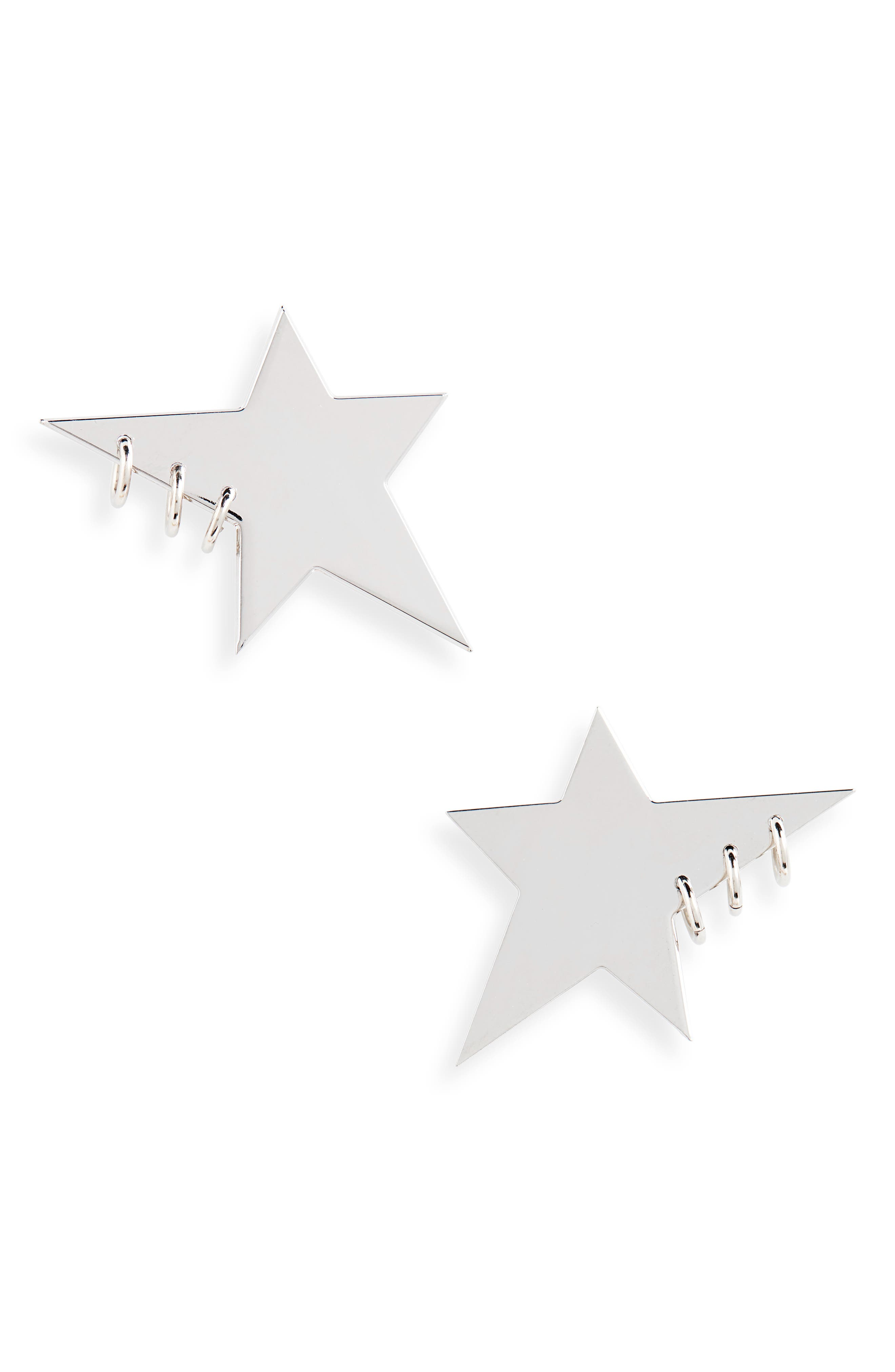 JUSTINE CLENQUET Marc Earrings in Silver