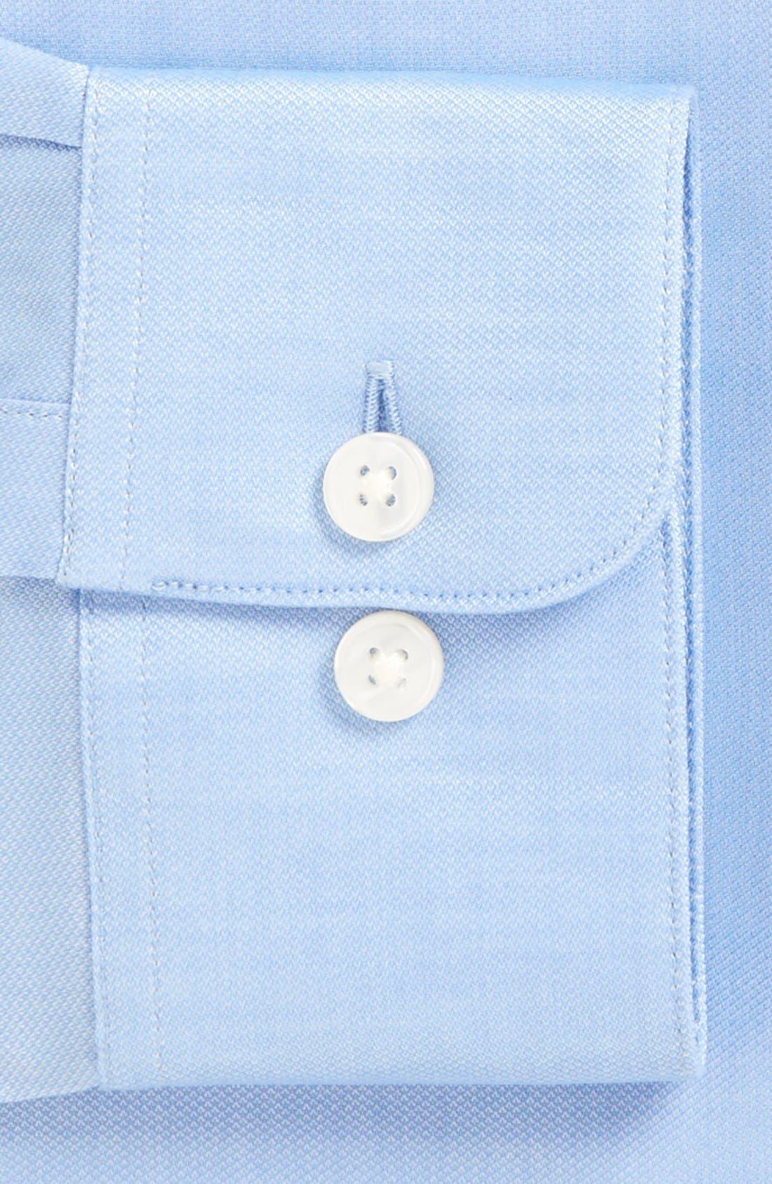 Soho Slim Fit Stretch Solid Dress Shirt,                             Alternate thumbnail 3, color,                             ATLANTIC BLUE