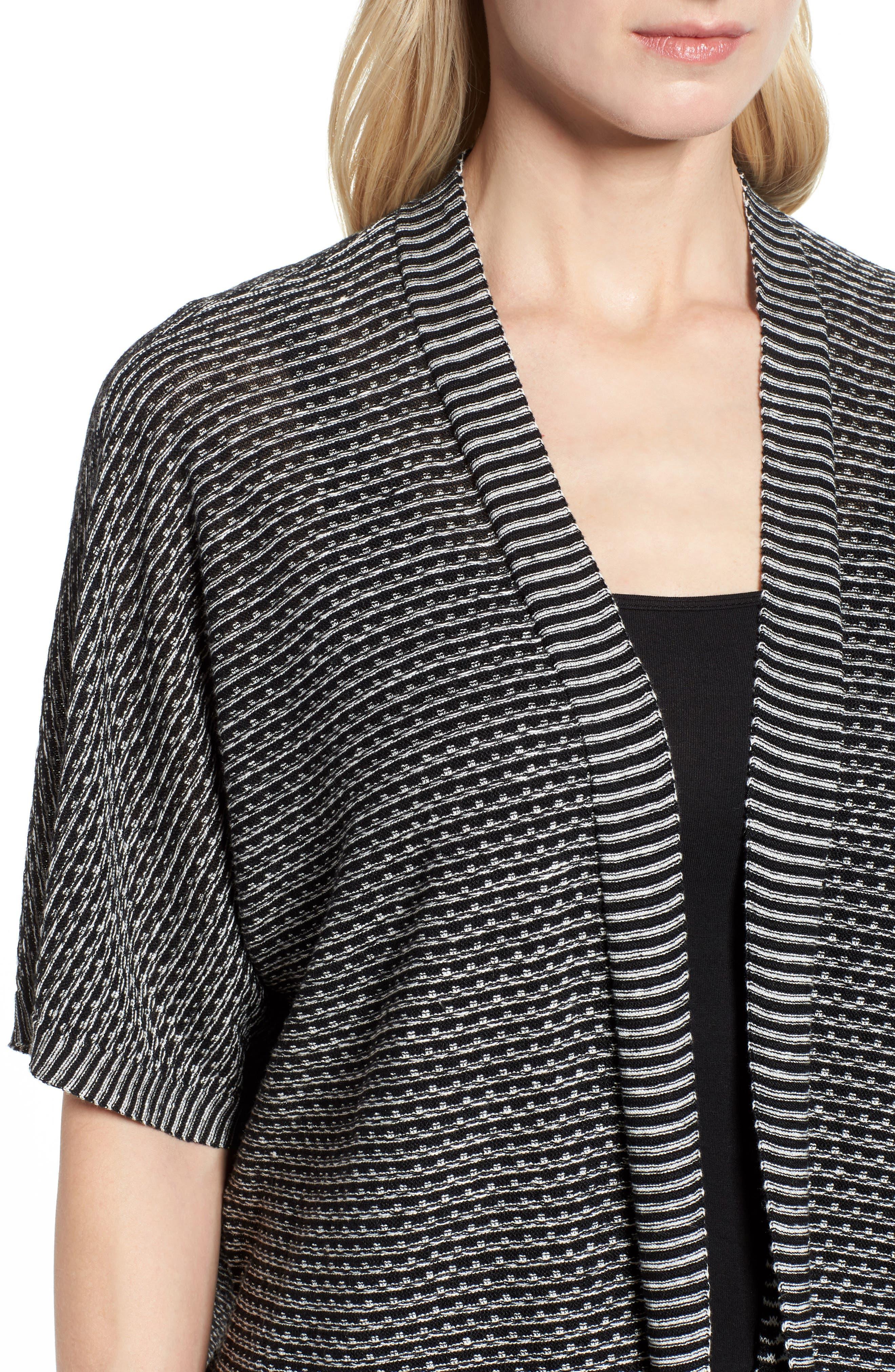 Organic Linen Kimono Cardigan,                             Alternate thumbnail 4, color,