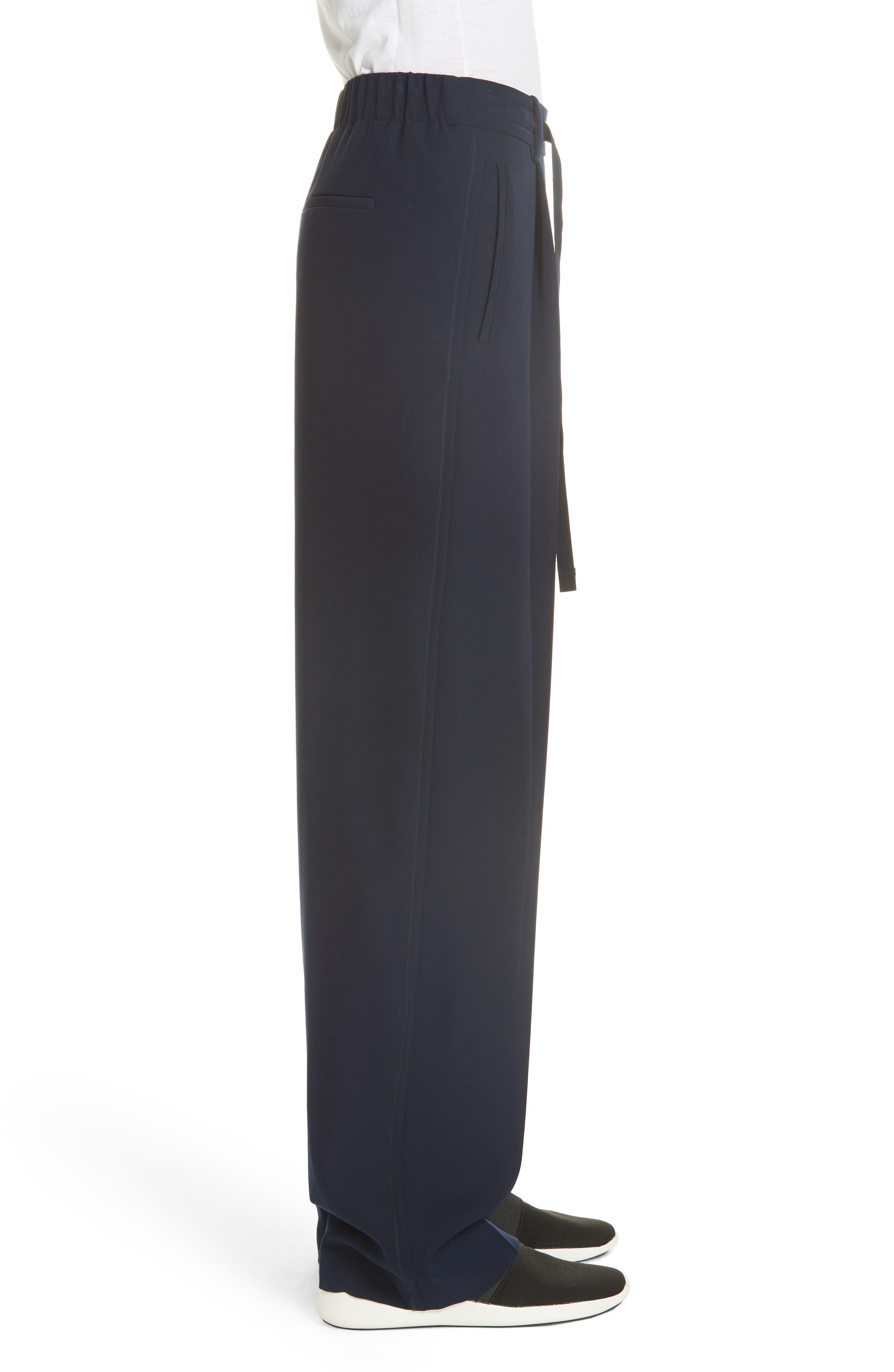 Wide Leg Pull-On Pants,                             Alternate thumbnail 3, color,                             NAVY