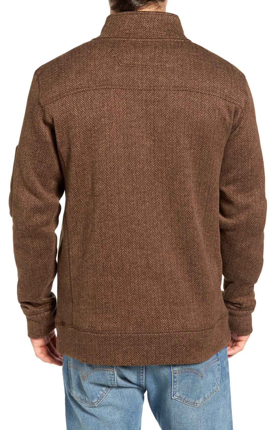 Lance Herringbone Zip Mock Neck Sweater,                             Alternate thumbnail 9, color,