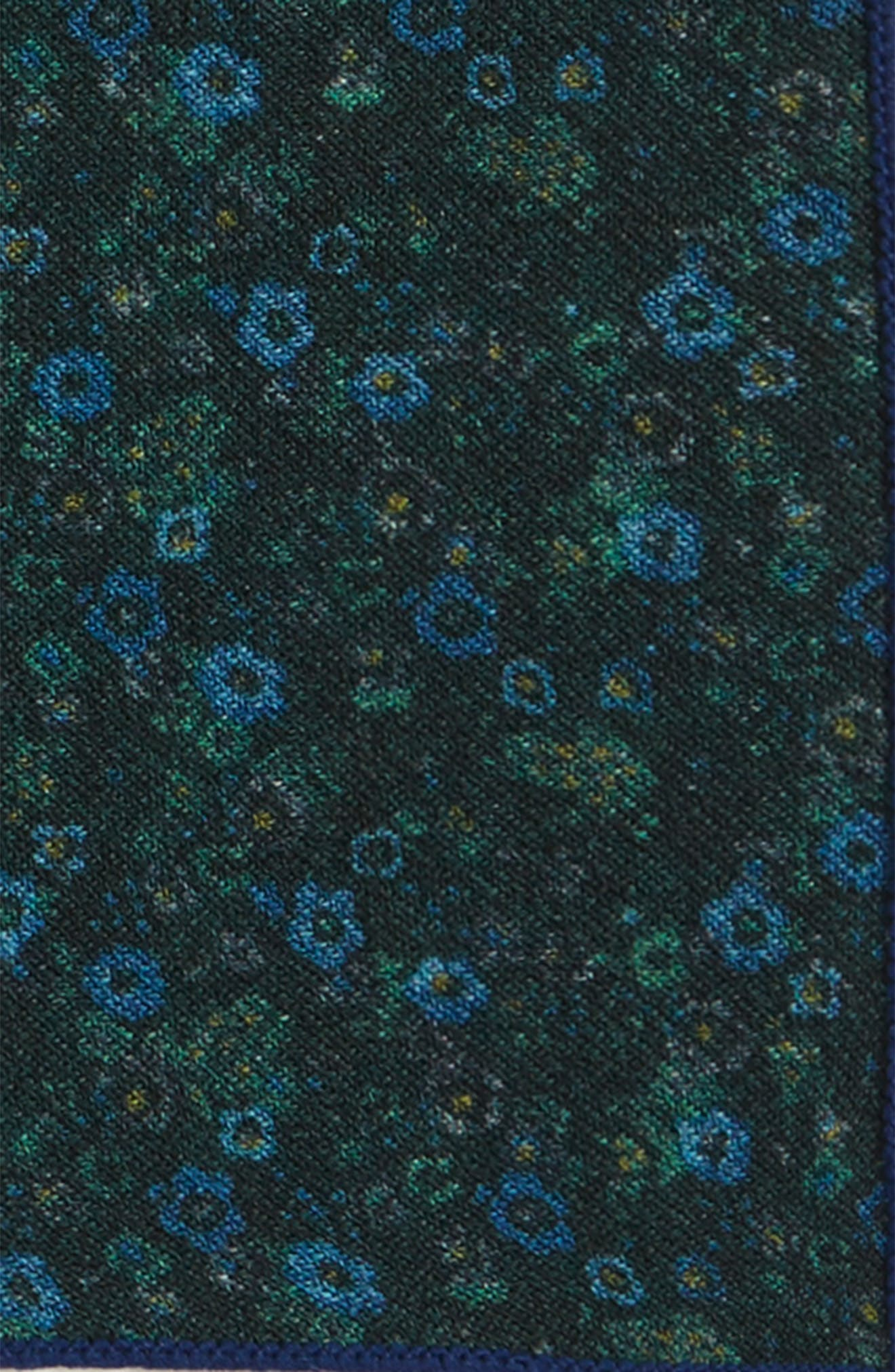 Floral Wool Pocket Square,                             Alternate thumbnail 3, color,                             300