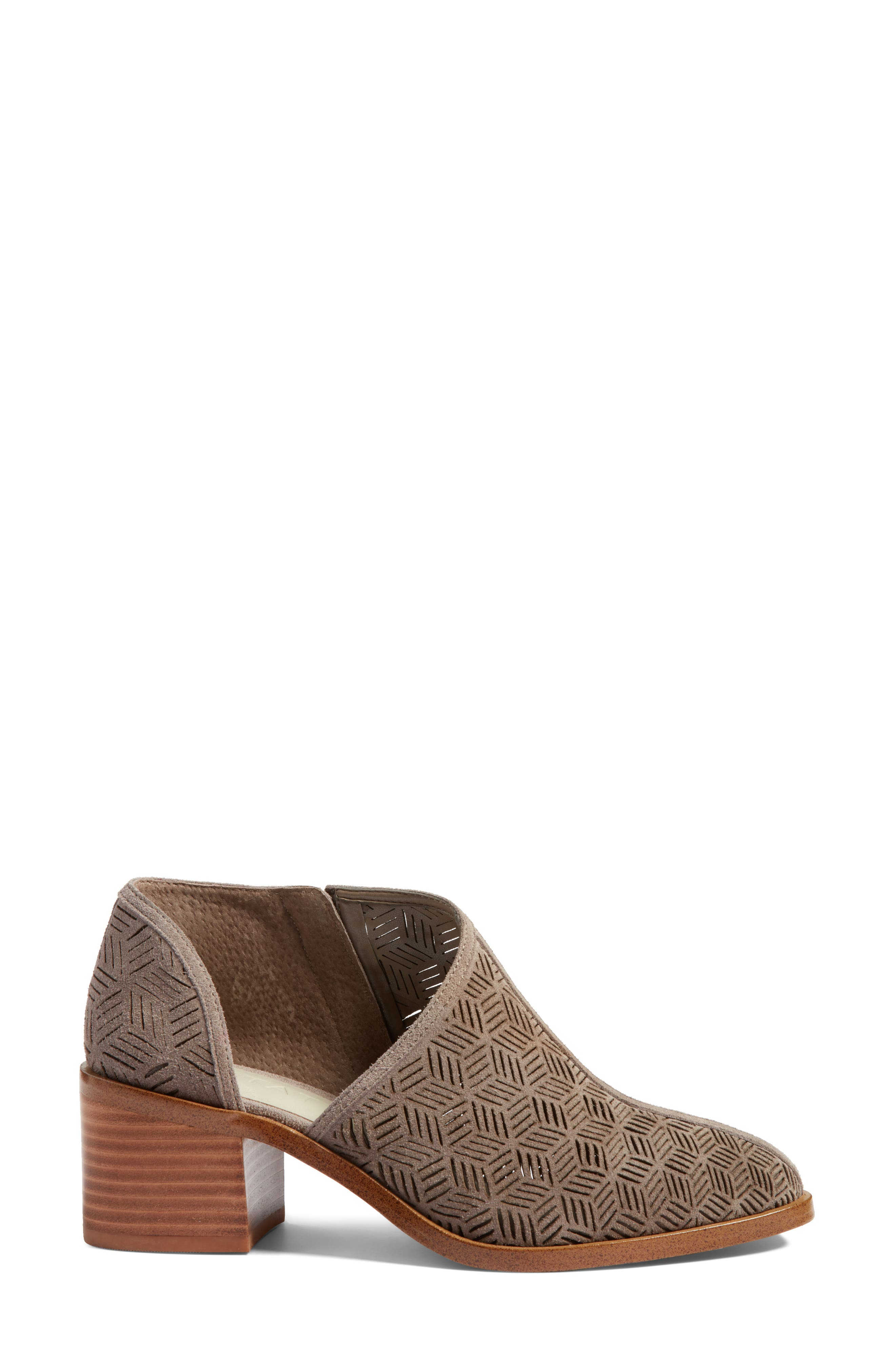 Iddah Perforated Cutaway Bootie,                             Alternate thumbnail 15, color,