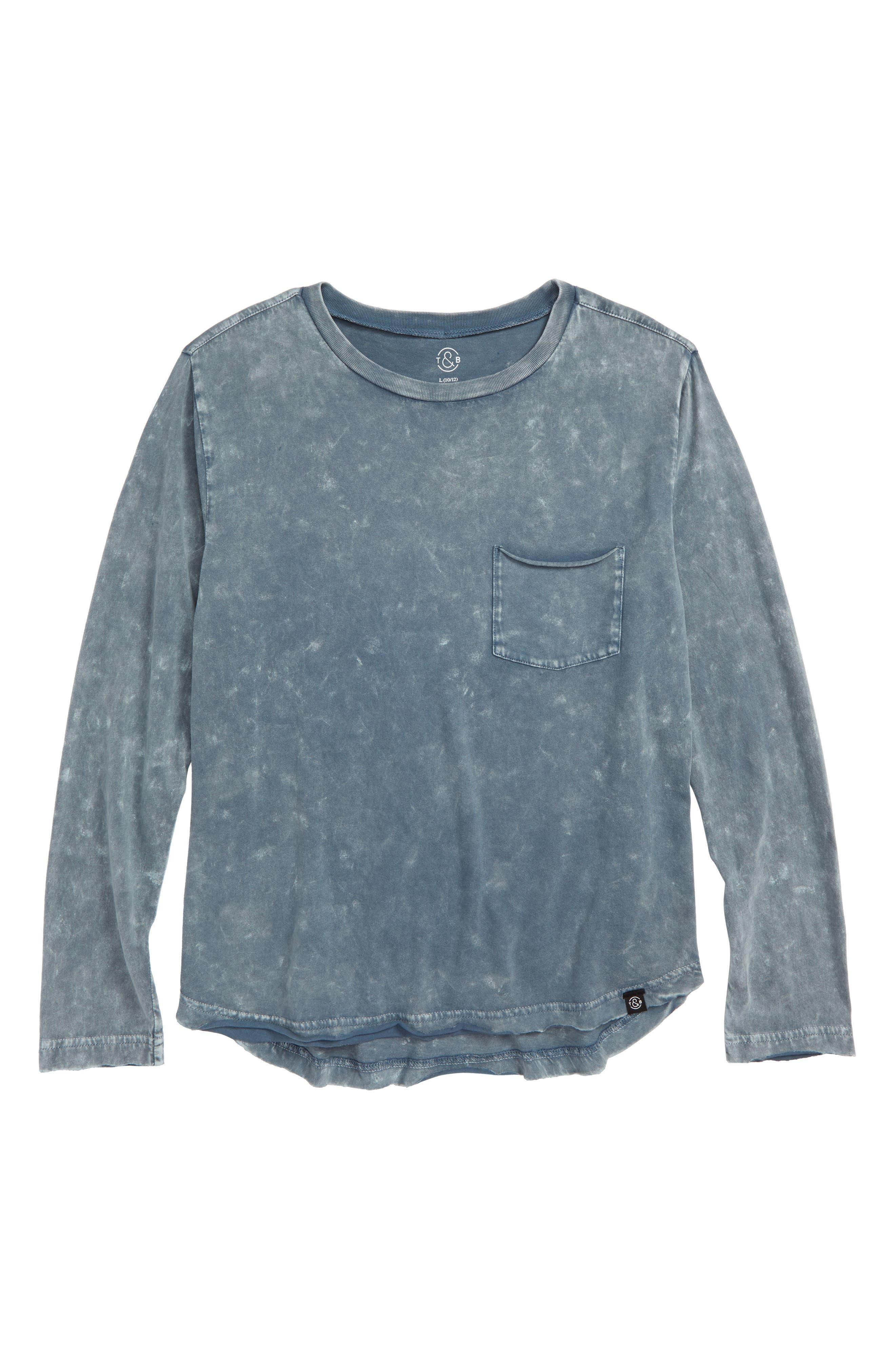 Washed Long Sleeve T-Shirt,                             Main thumbnail 1, color,                             420
