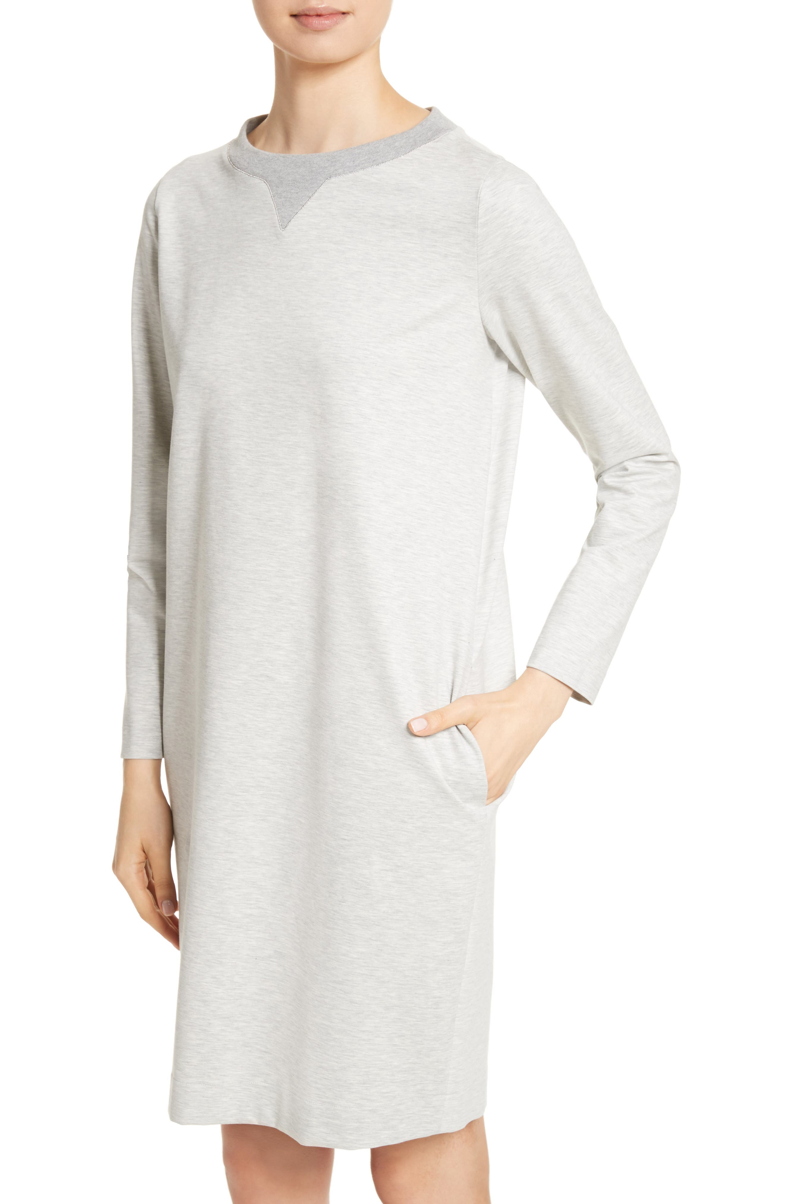 Rodier Jersey Sweatshirt Dress,                             Alternate thumbnail 4, color,                             050