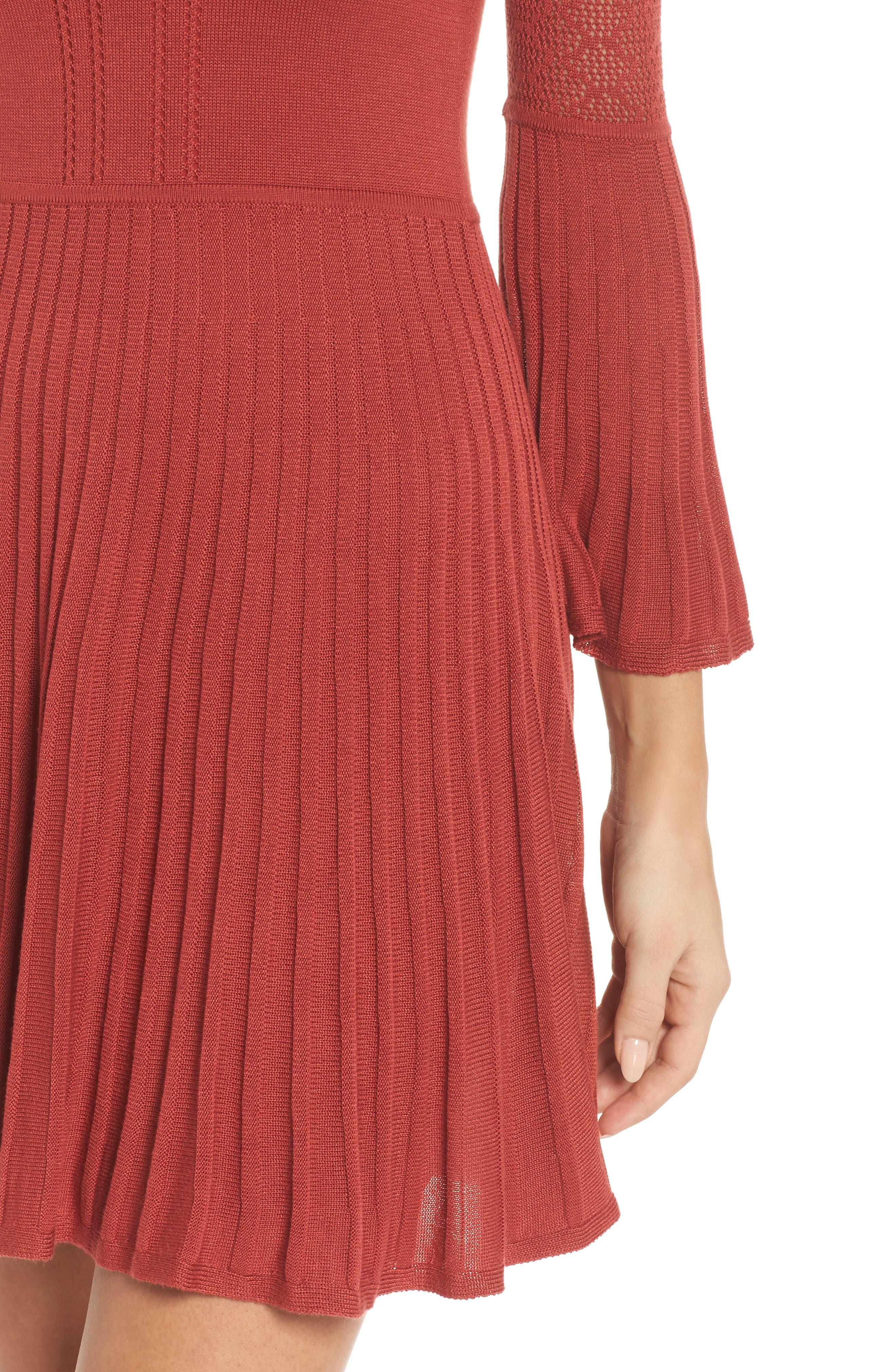 Private Concert Sweater Dress,                             Alternate thumbnail 4, color,                             600
