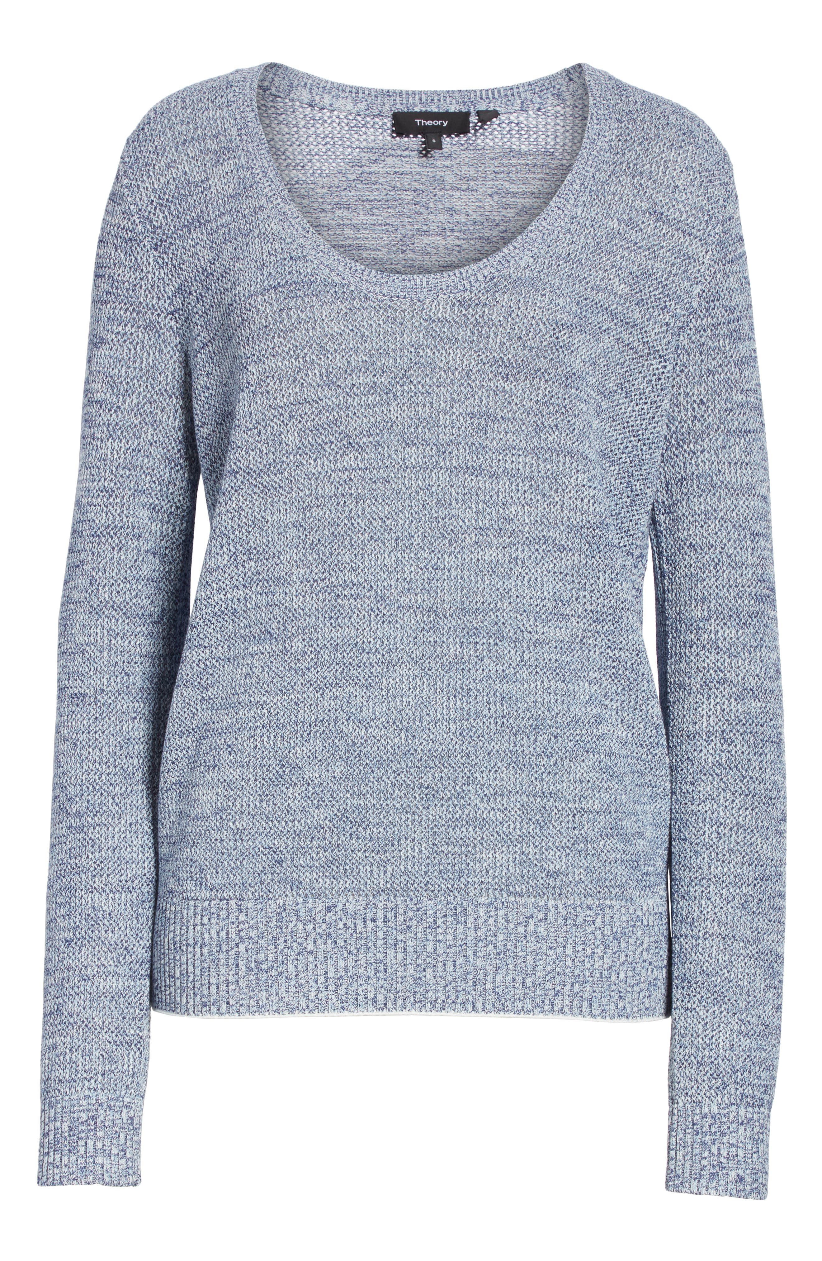 Prosecco Marled Sweater,                             Alternate thumbnail 6, color,                             404
