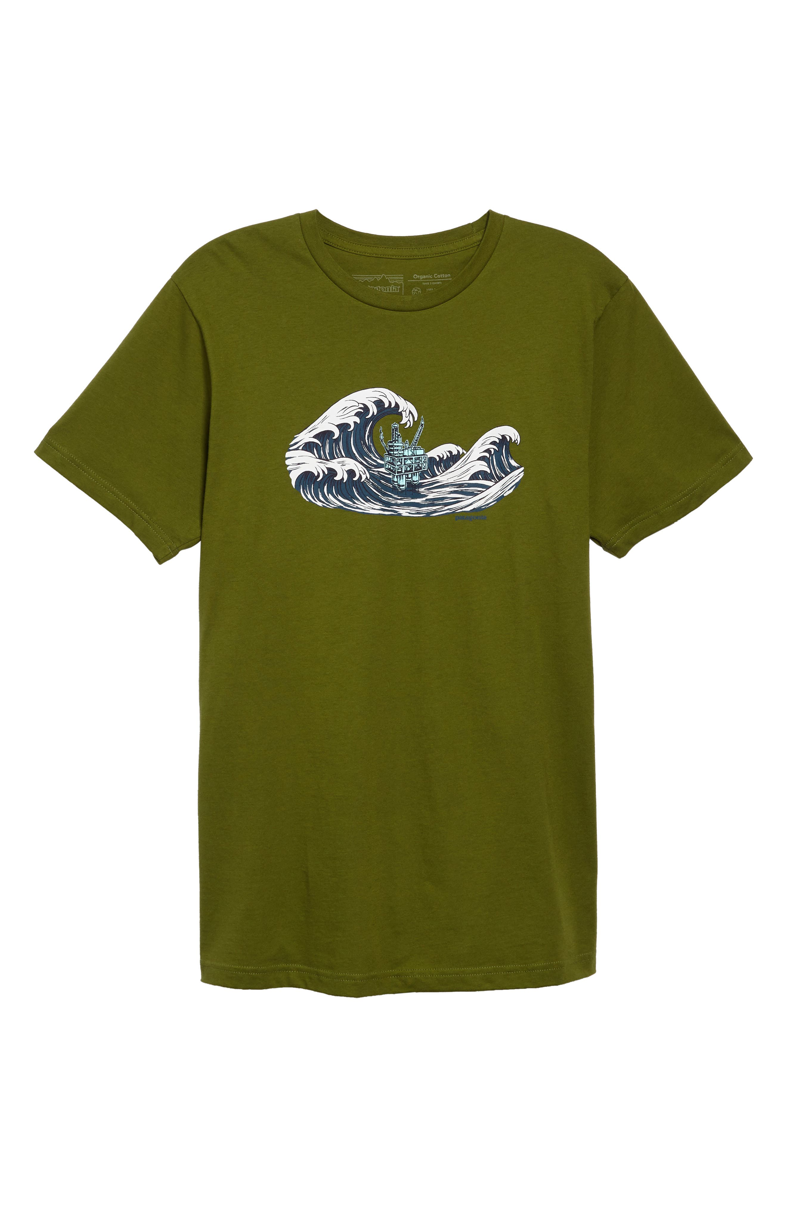 PATAGONIA,                             Oily Olas Slim Fit Organic Cotton T-Shirt,                             Alternate thumbnail 6, color,                             300