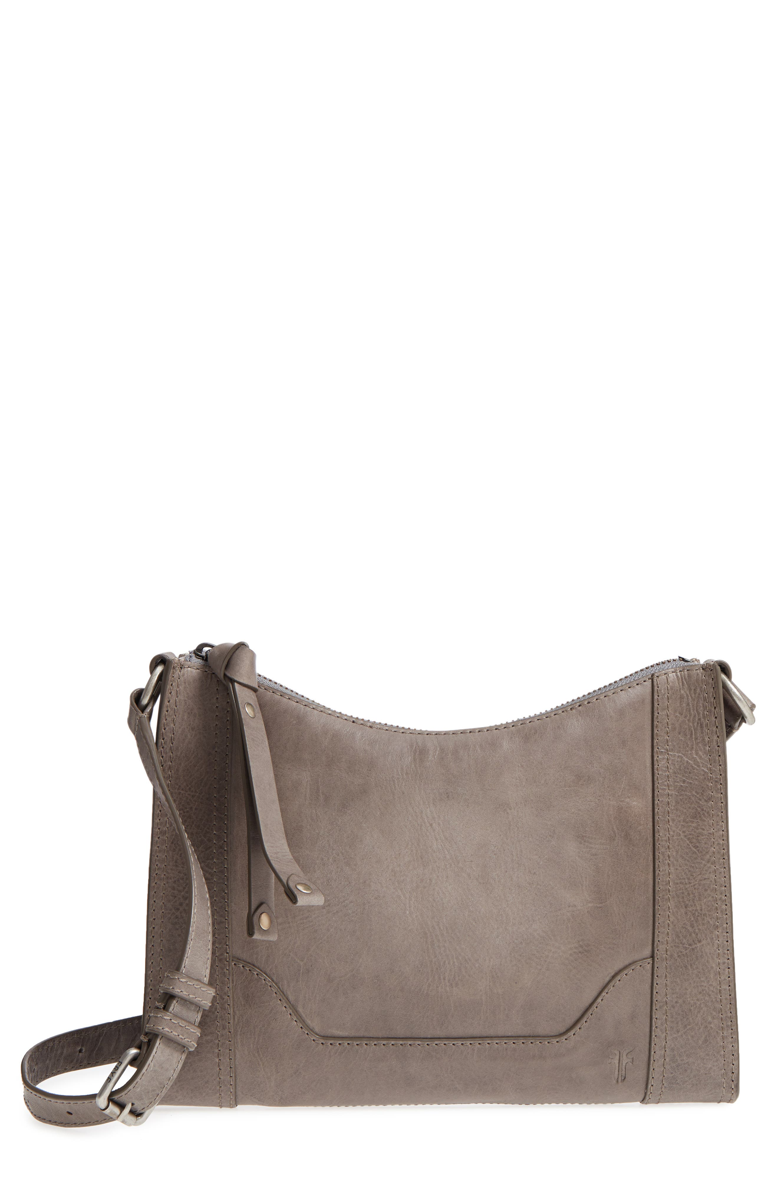 Melissa Leather Crossbody Bag,                         Main,                         color, ICE