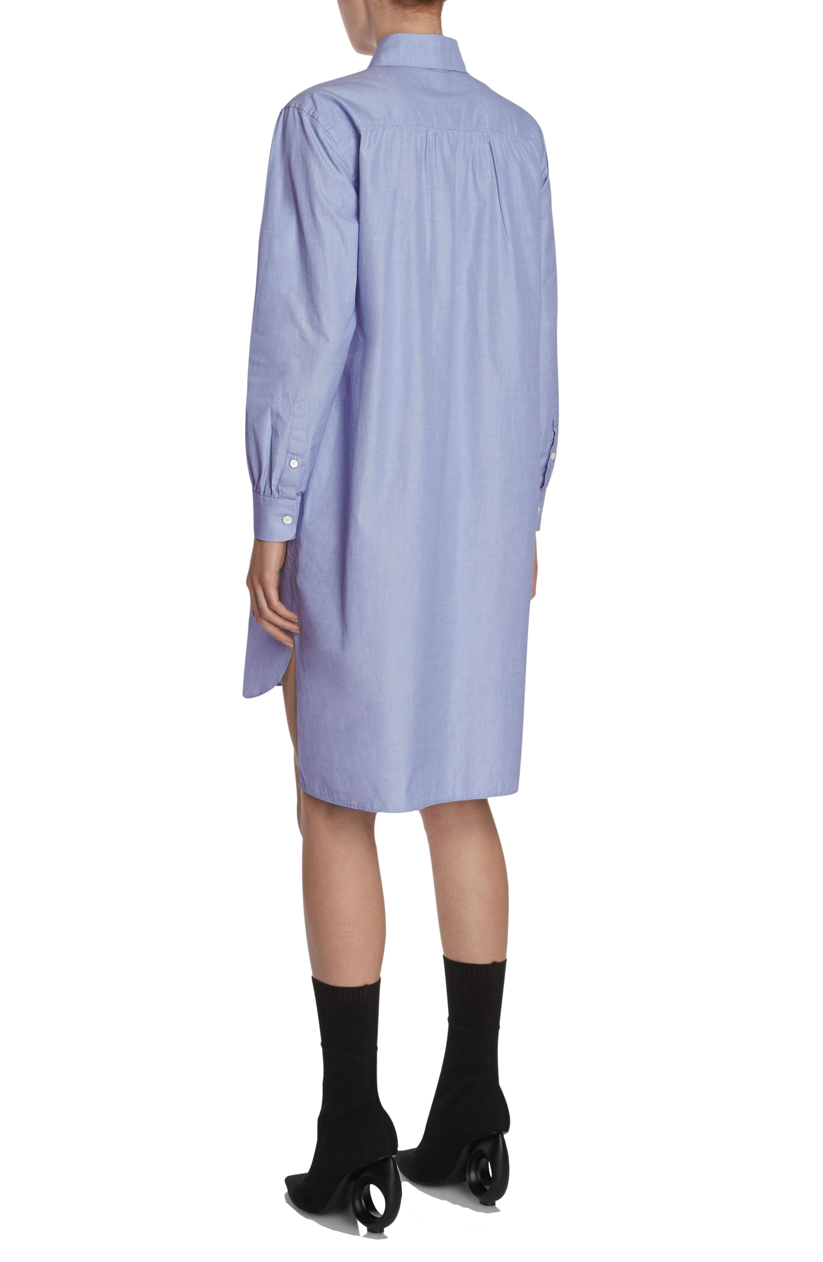 Pintuck Cotton Shirtdress,                             Alternate thumbnail 5, color,