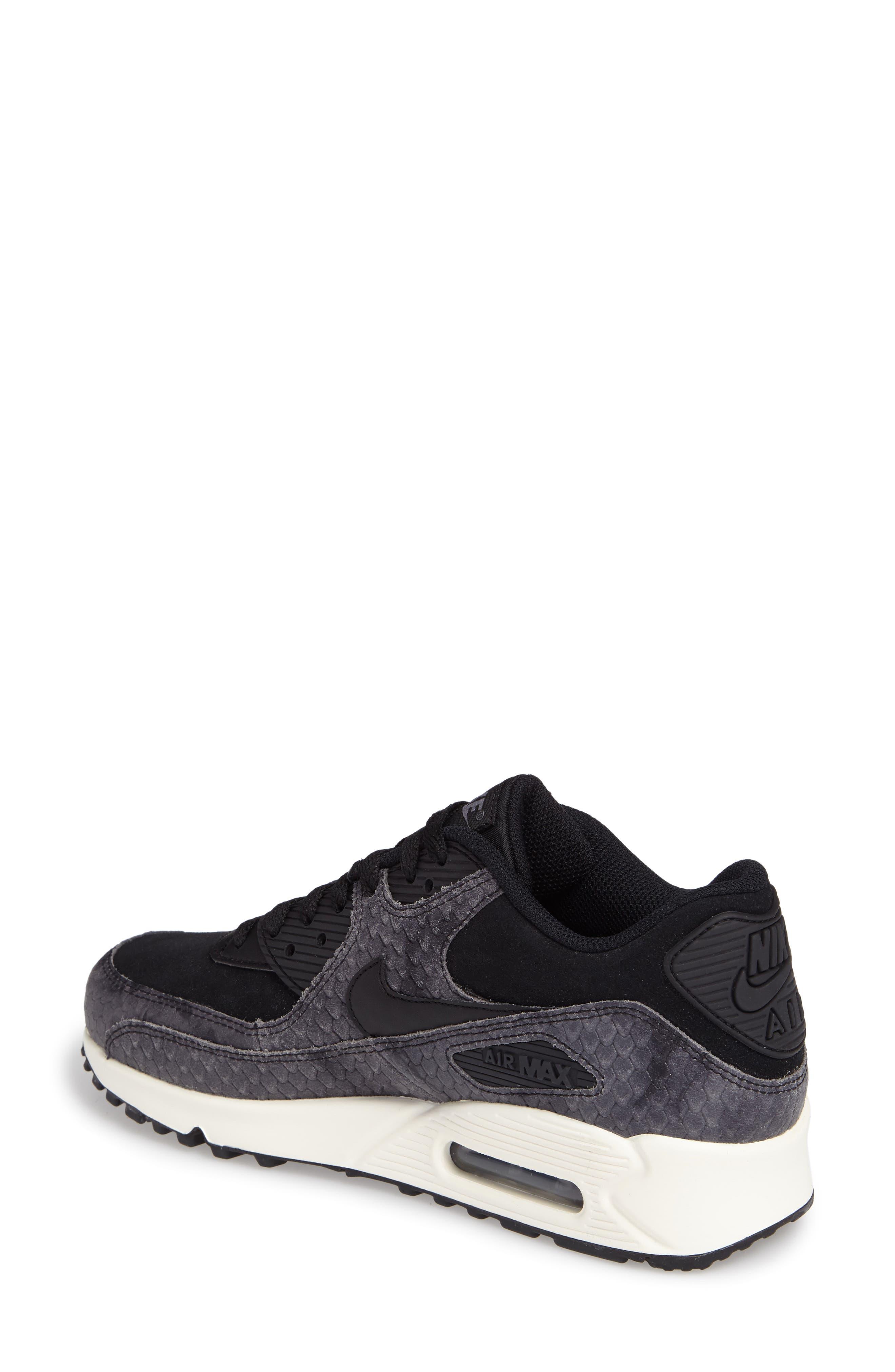 Air Max 90 Embossed Premium Sneaker,                             Alternate thumbnail 2, color,                             005