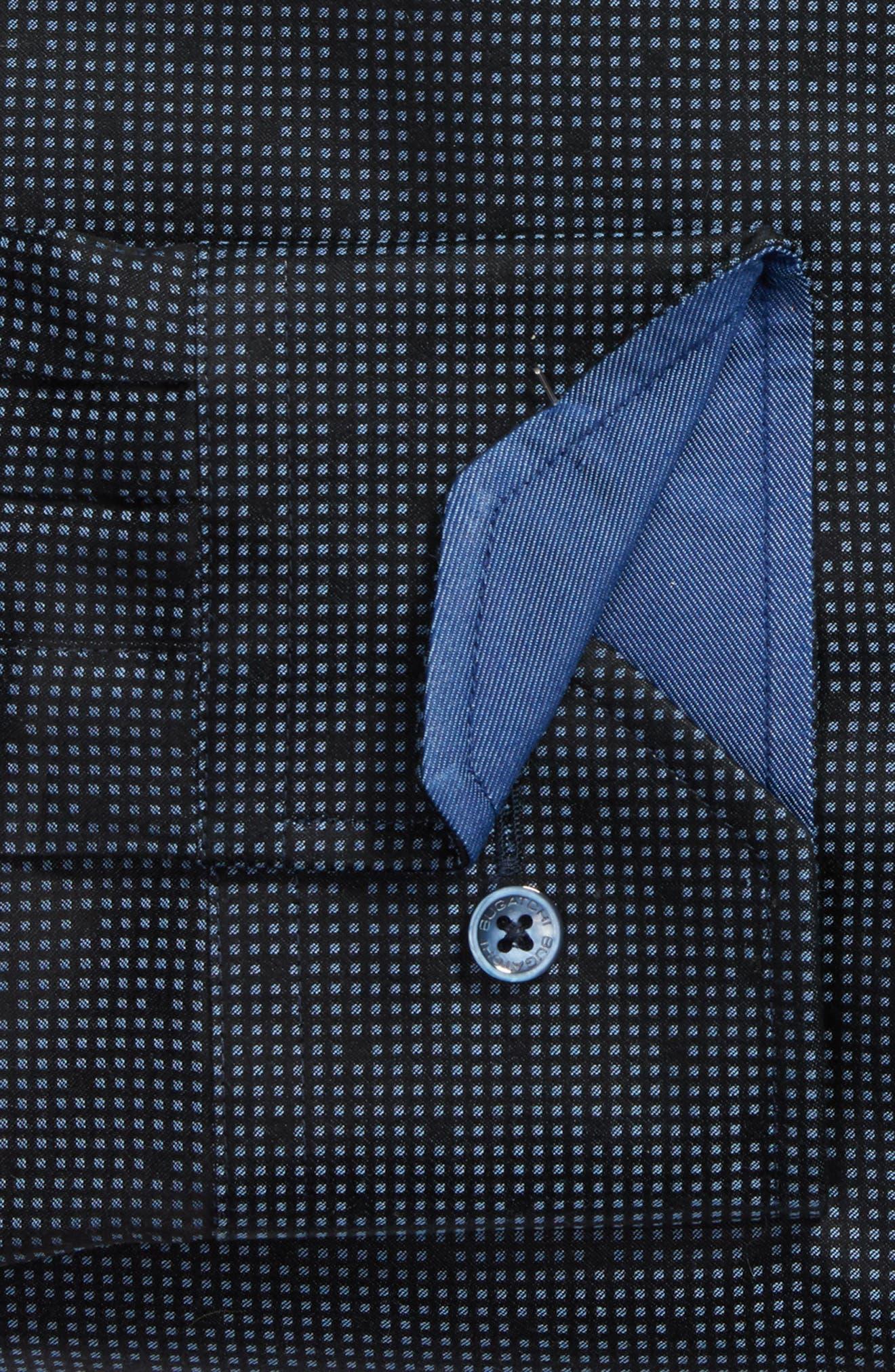Trim Fit Check Dress Shirt,                             Alternate thumbnail 2, color,                             001
