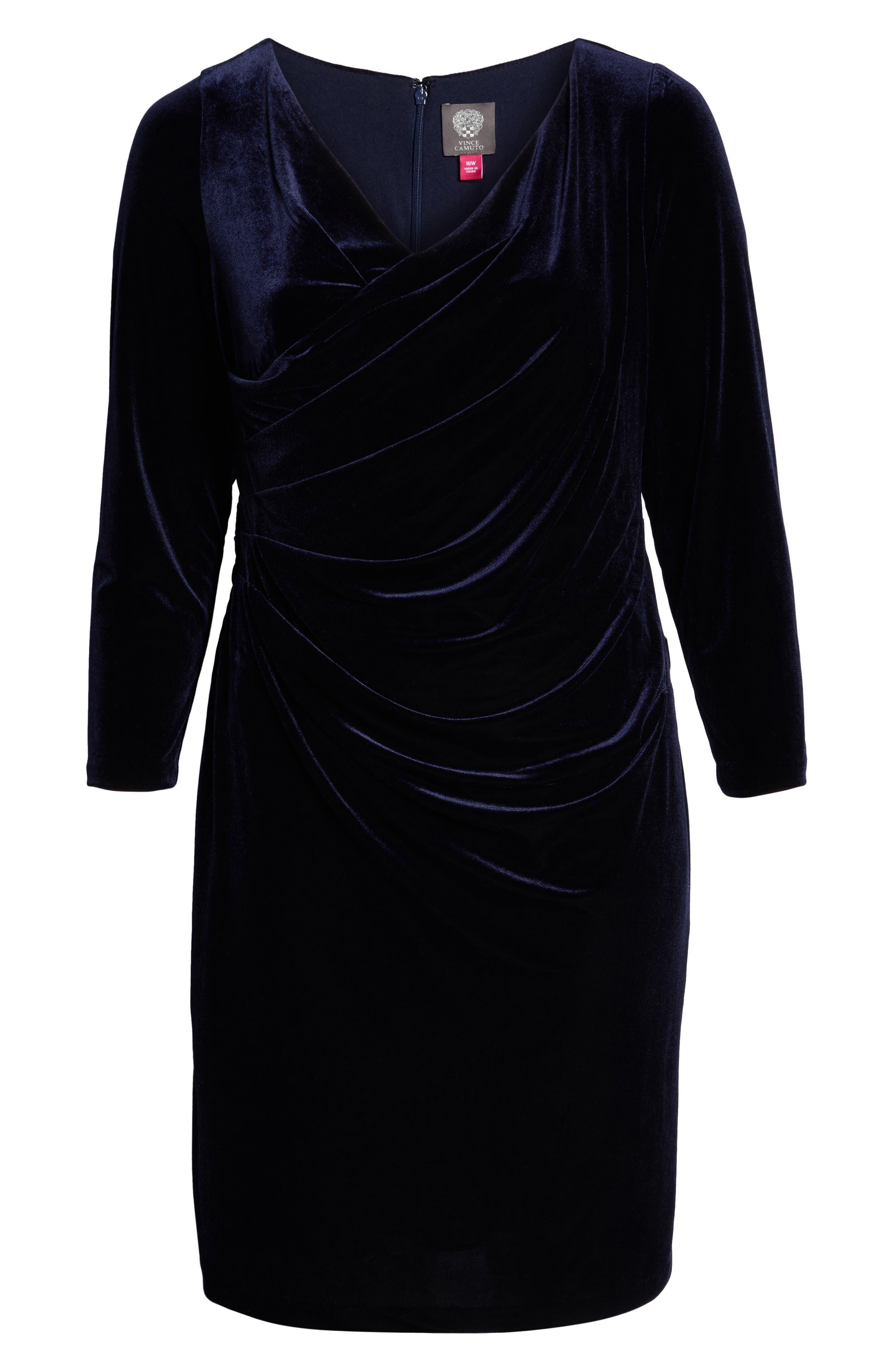 Midi Dress,                             Alternate thumbnail 7, color,                             NAVY