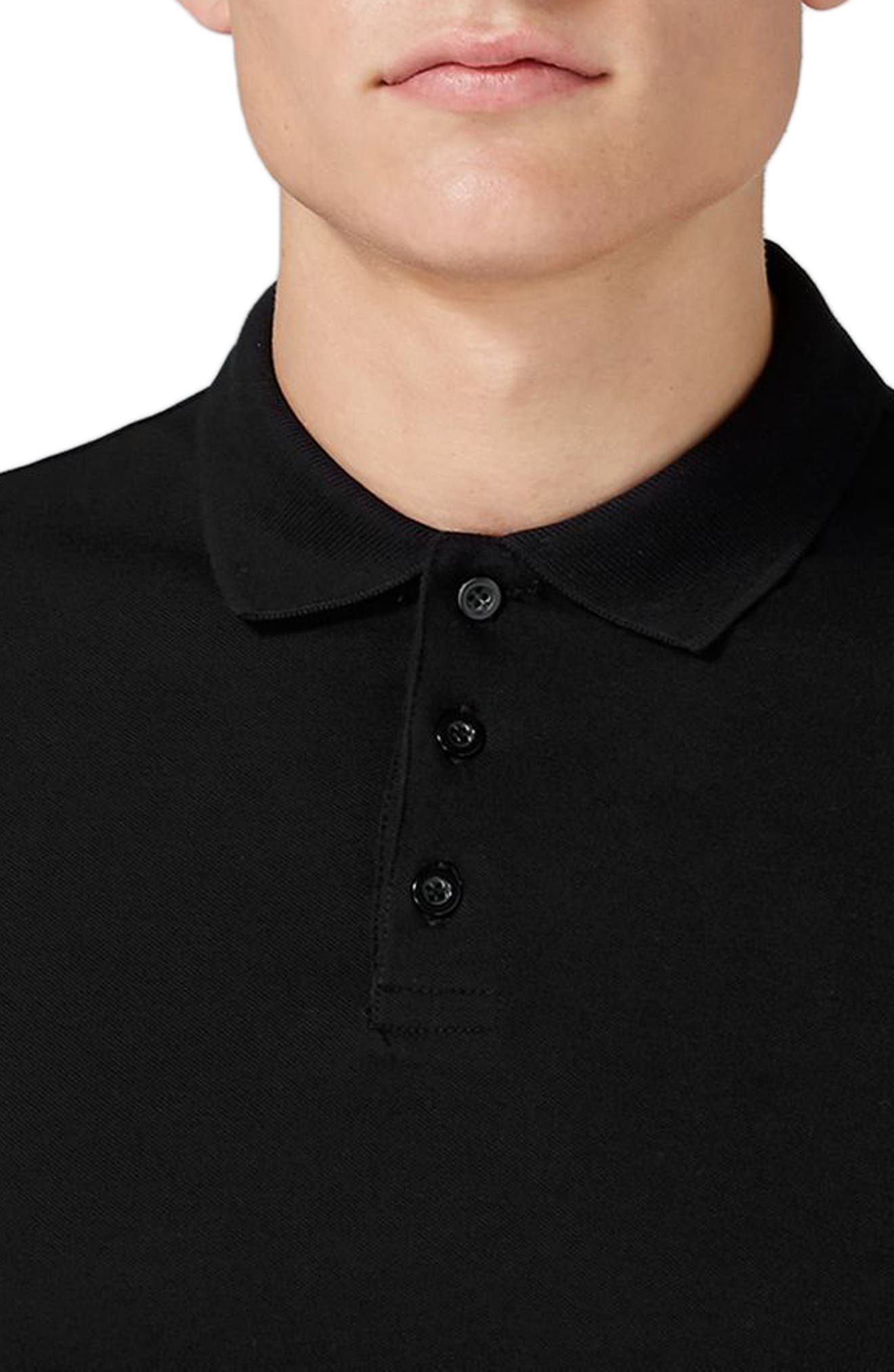 Muscle Fit Polo,                             Alternate thumbnail 3, color,                             001