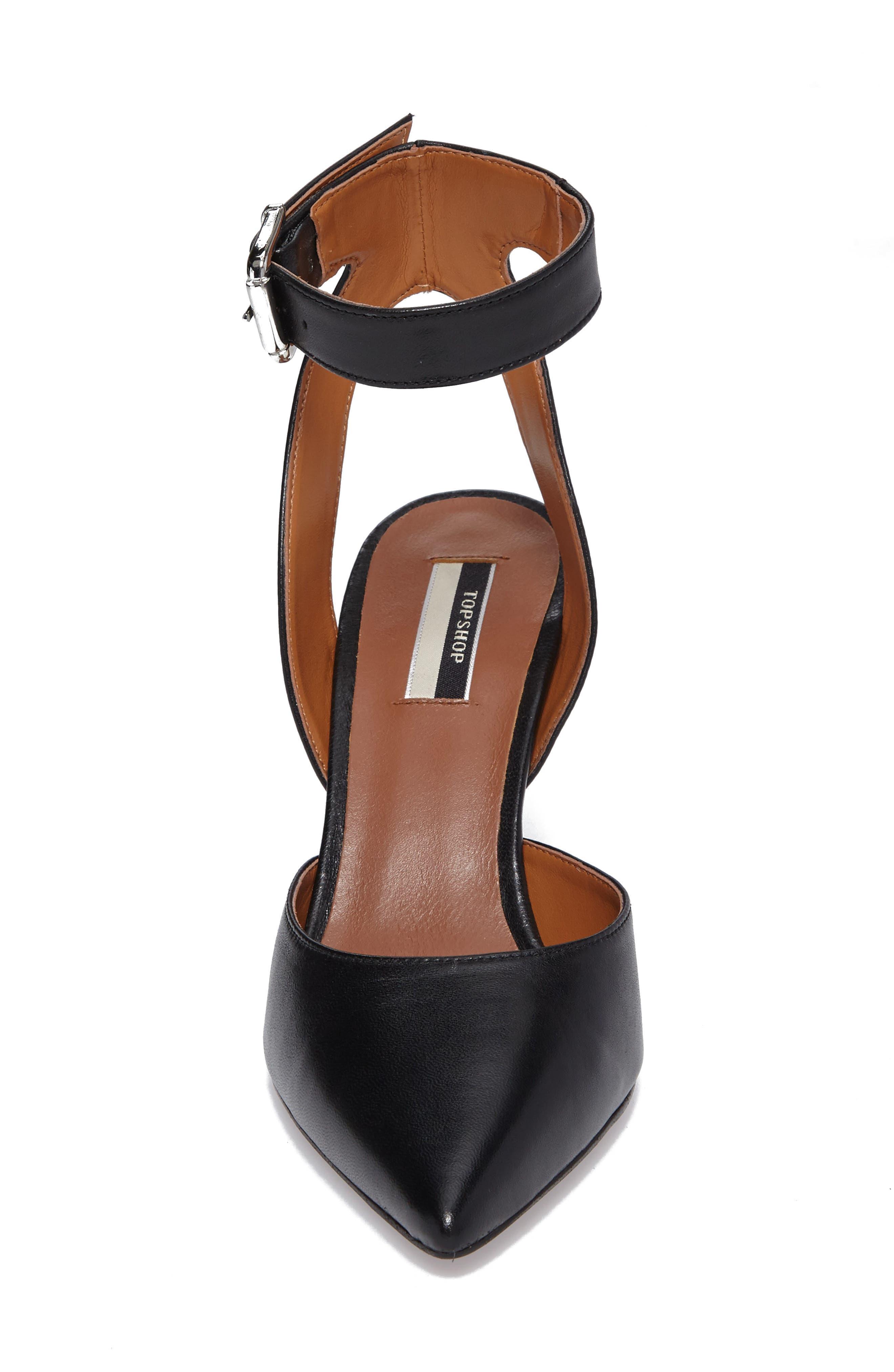 Jessa Ankle Strap Pump,                             Alternate thumbnail 4, color,                             001