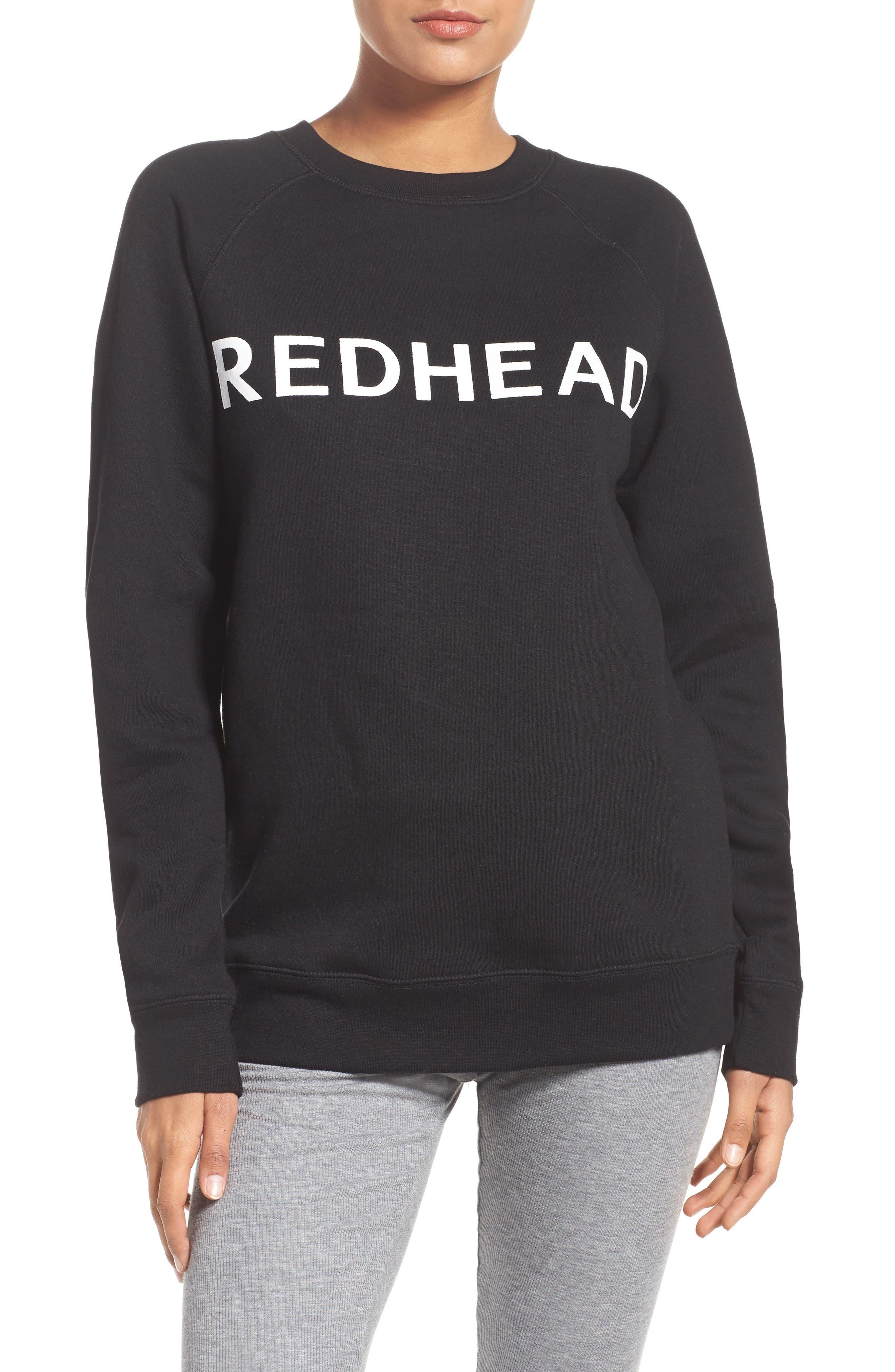 Redhead Lounge Sweatshirt,                             Main thumbnail 1, color,                             001