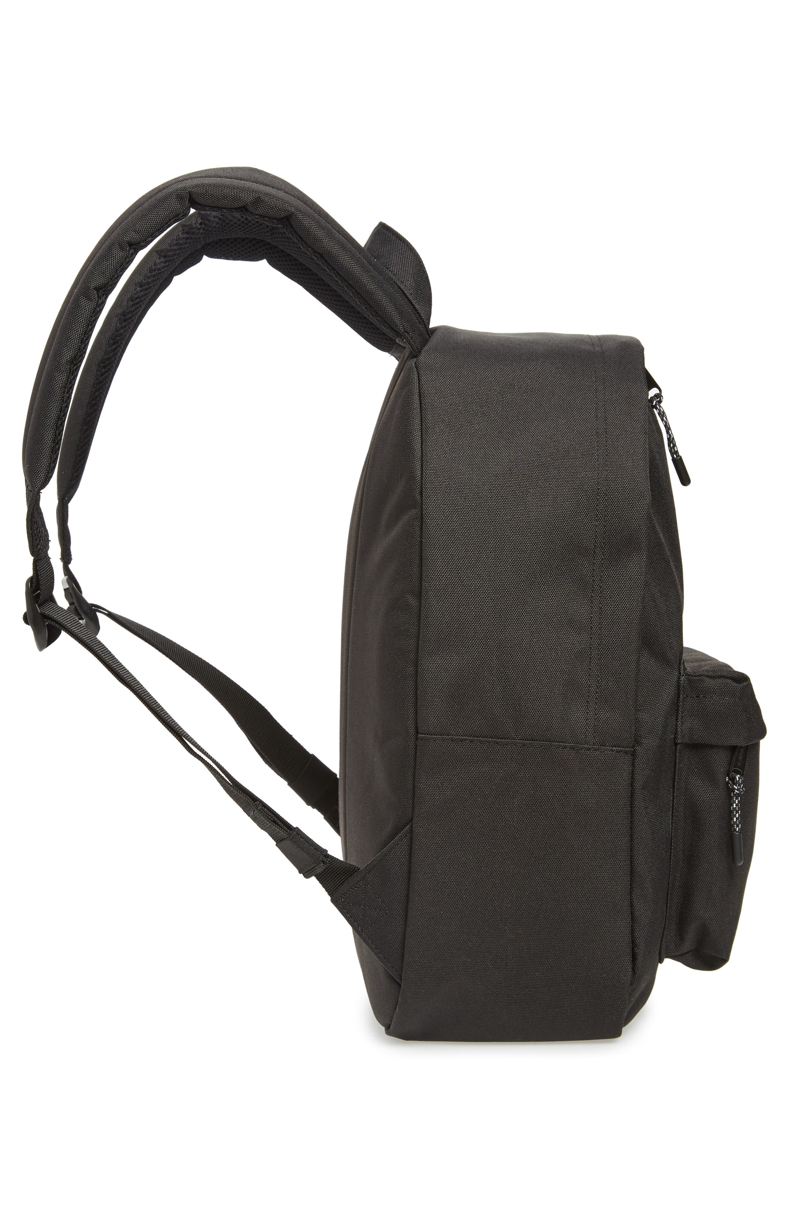 Classic Mid Volume Backpack,                             Alternate thumbnail 5, color,                             BLACK