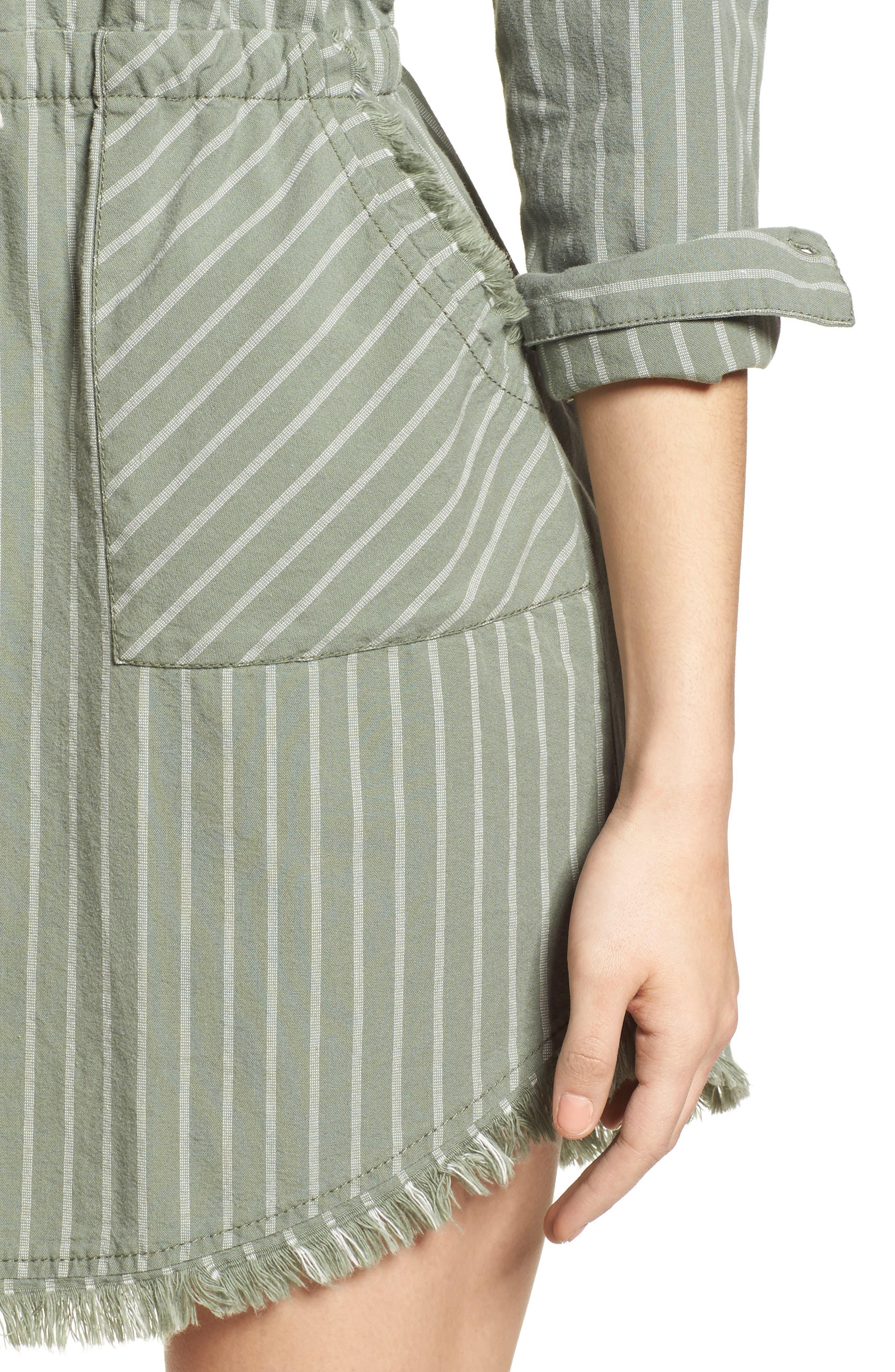 Drawstring Waist Shirtdress,                             Alternate thumbnail 4, color,                             310
