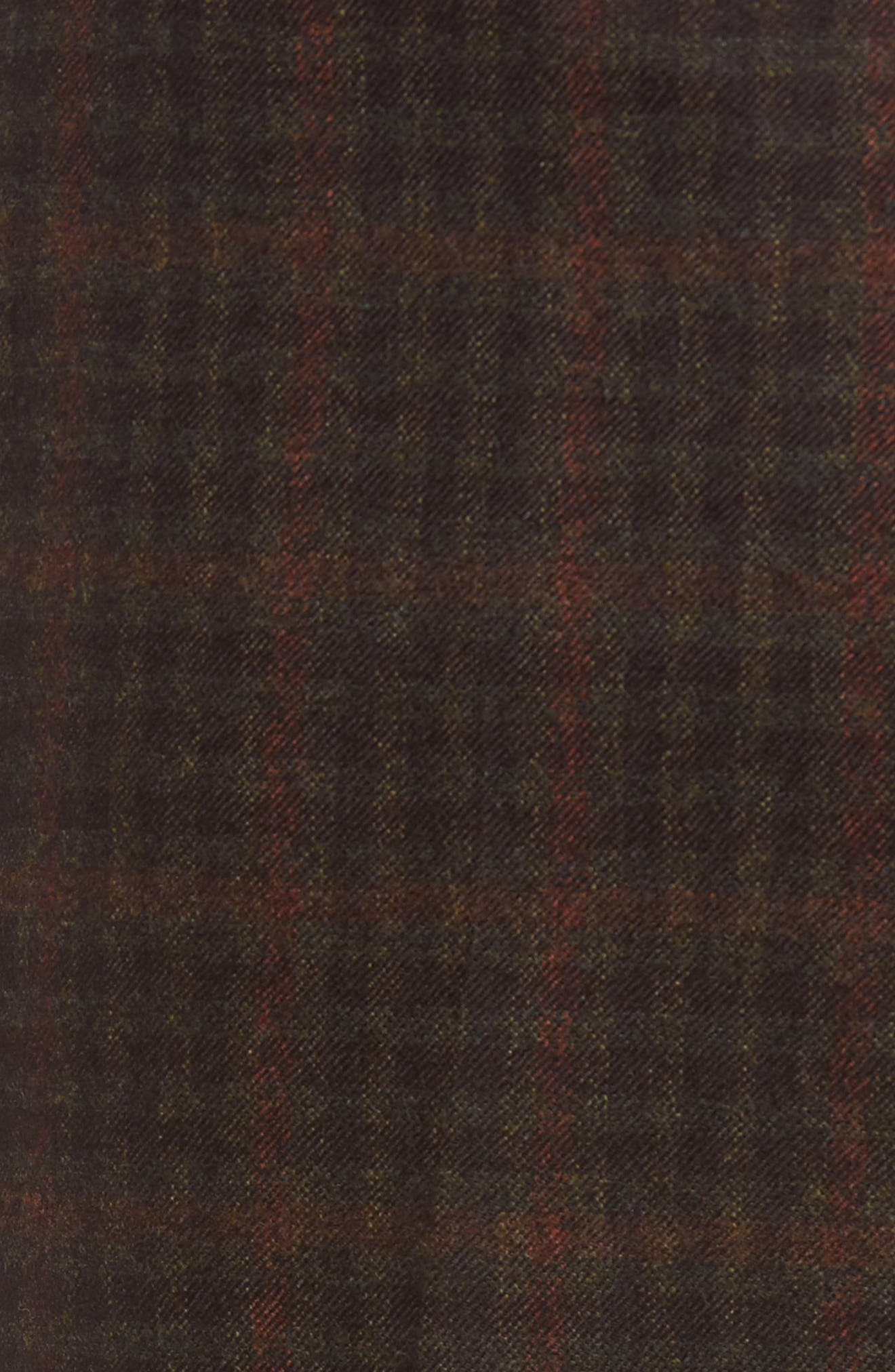 Flat Front Plaid Wool Trousers,                             Alternate thumbnail 2, color,                             200