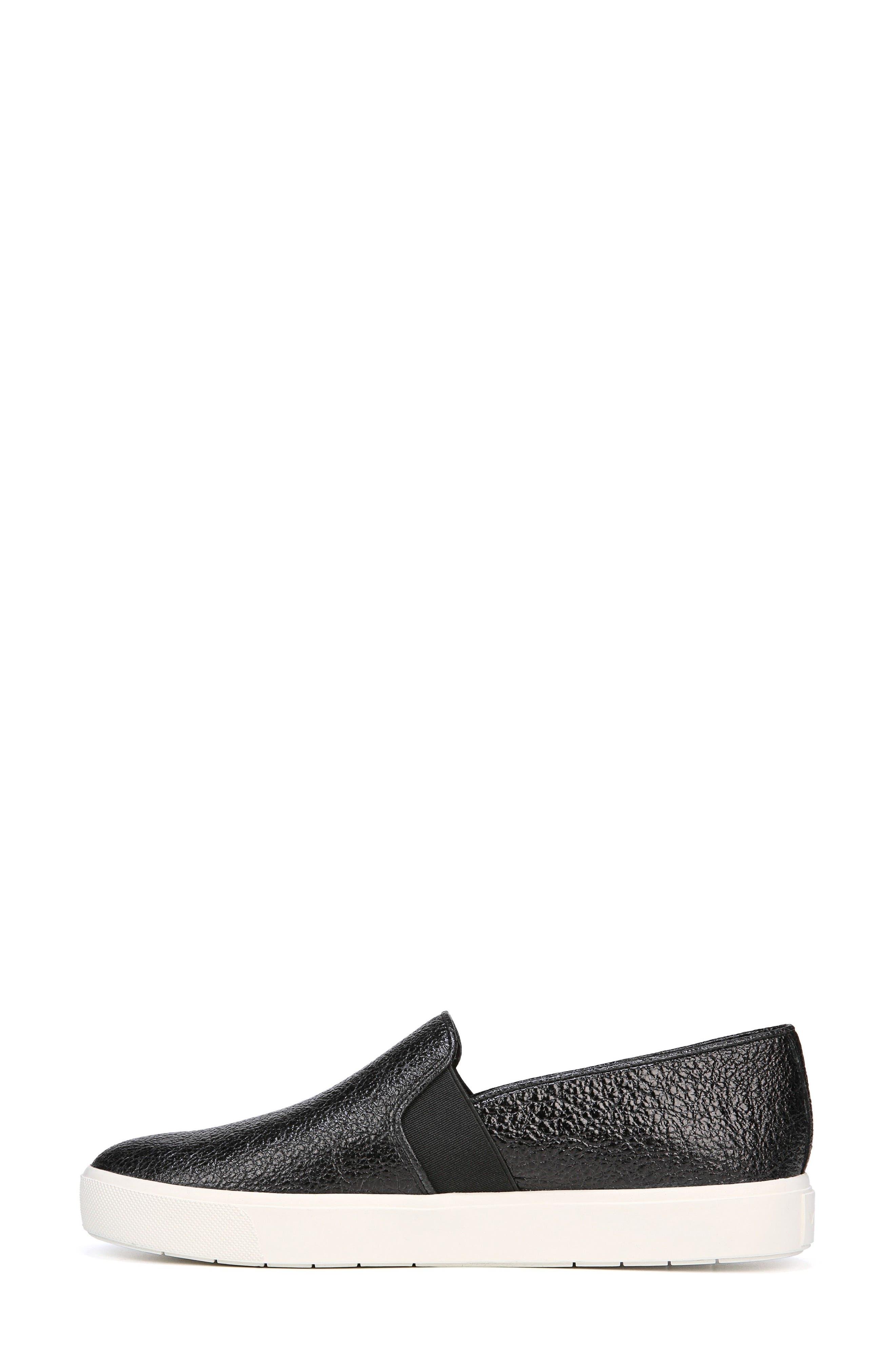 'Blair 12' Leather Slip-On Sneaker,                             Alternate thumbnail 6, color,                             BLACK LEATHER