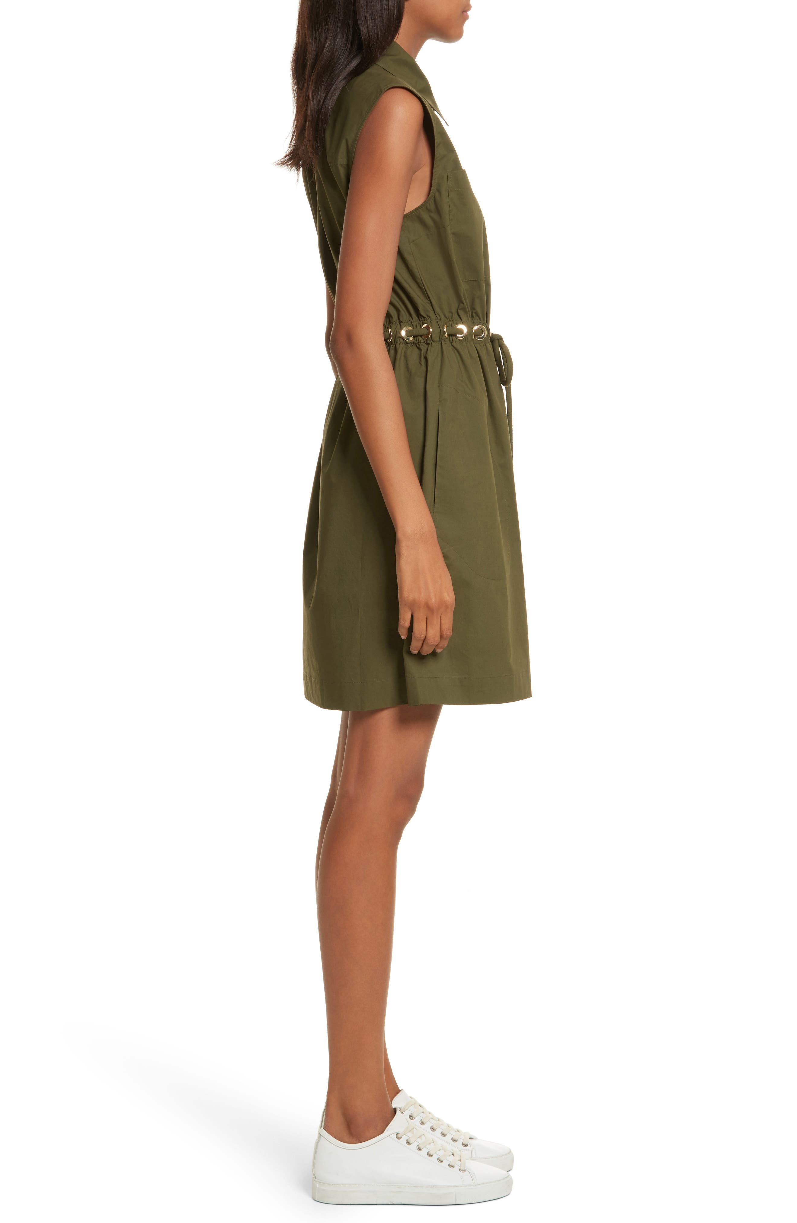 Zip Front Tunic Dress,                             Alternate thumbnail 3, color,                             301