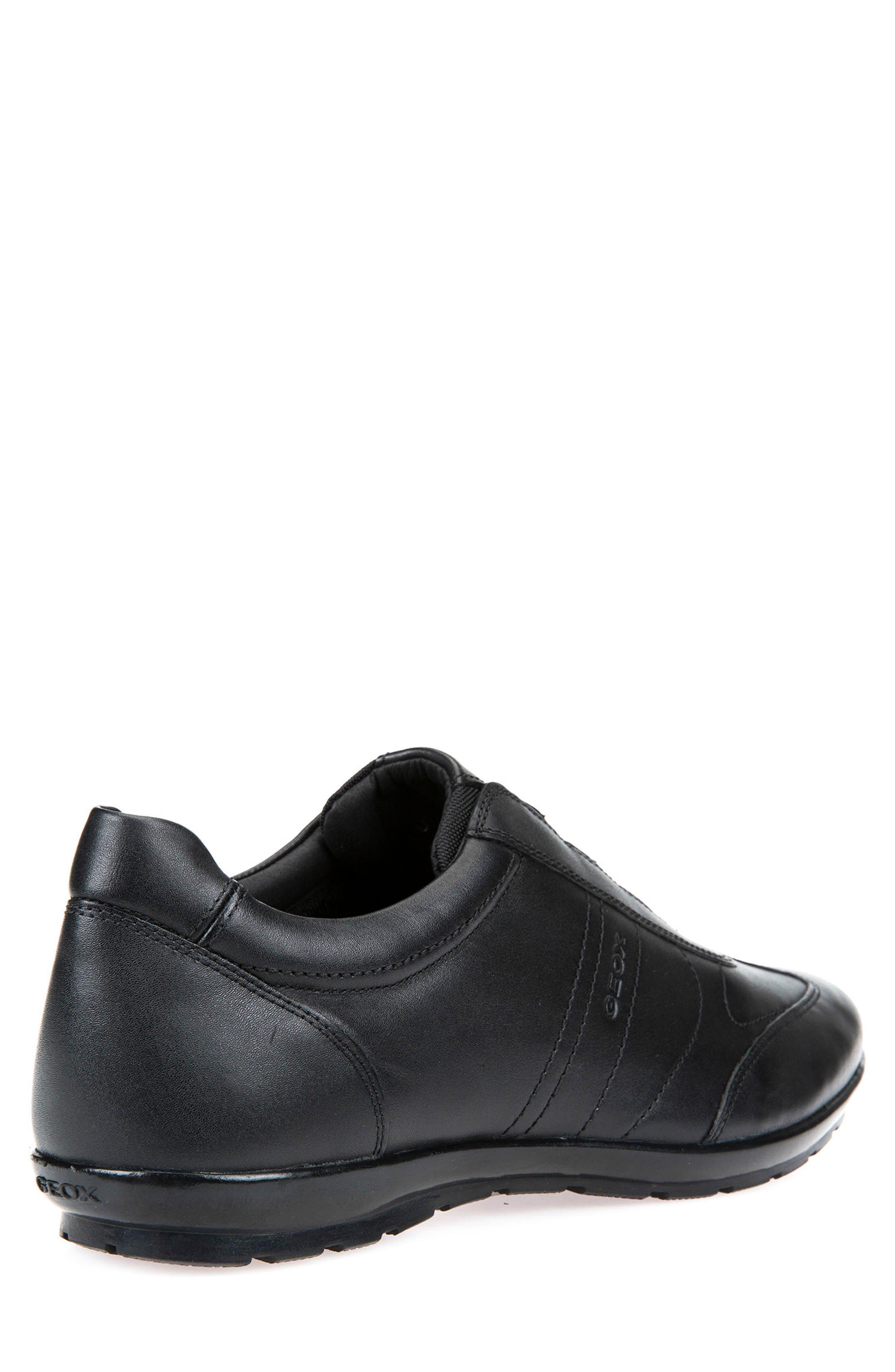Symbol 21 Slip-On Sneaker,                             Alternate thumbnail 2, color,                             BLACK LEATHER