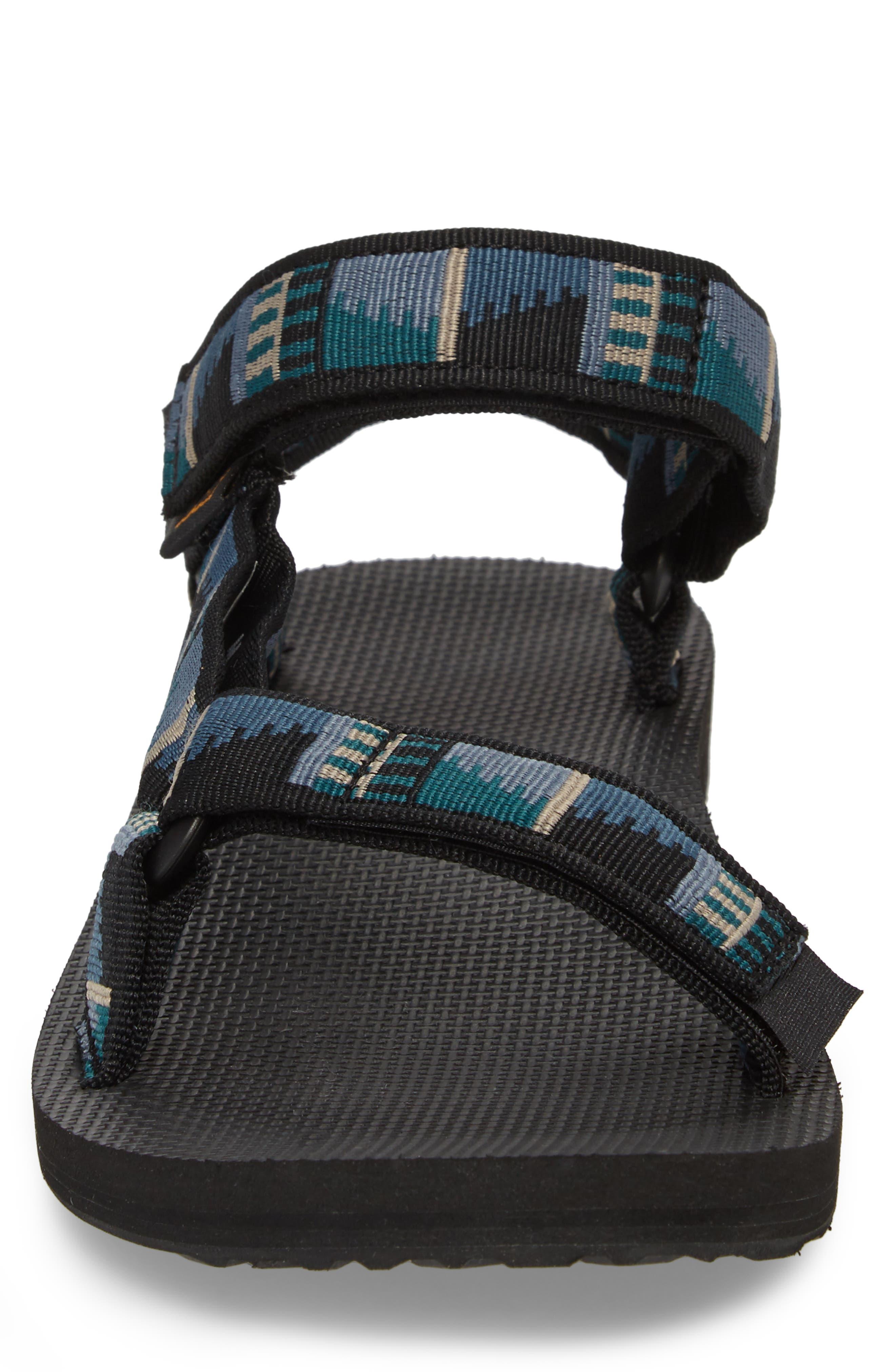 Original Universal Sandal,                             Alternate thumbnail 4, color,                             BLACK NYLON