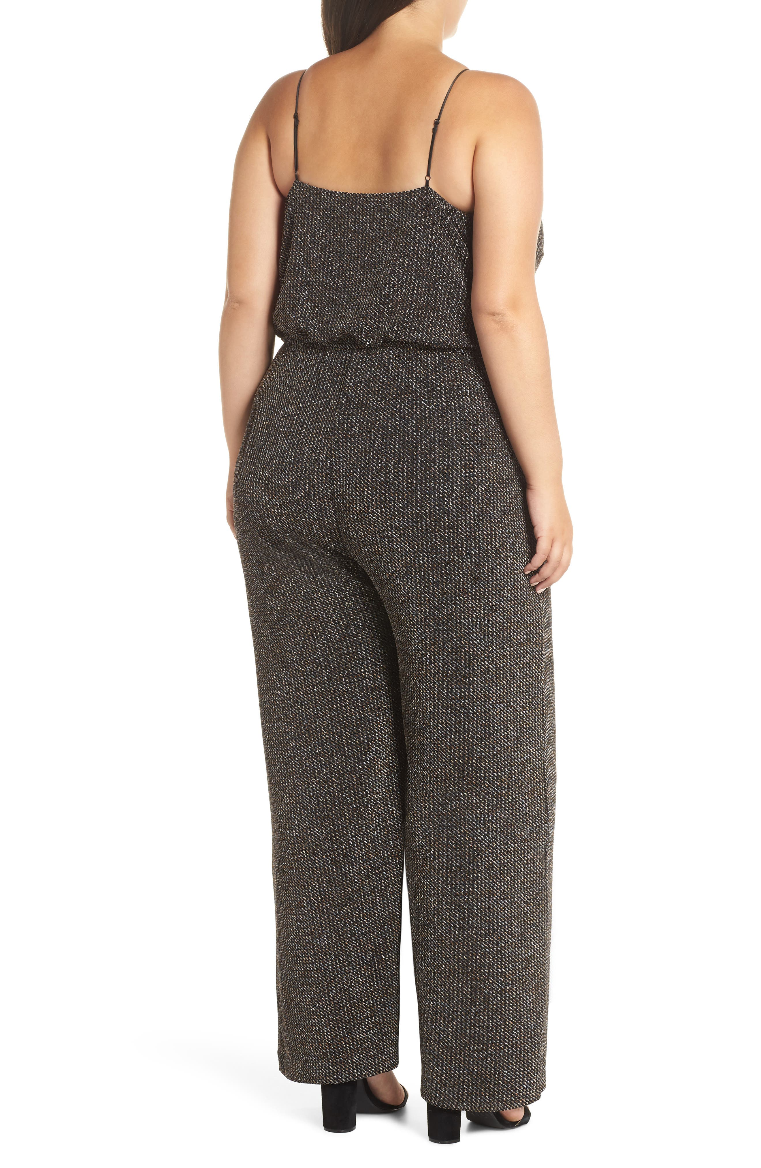Holiday Metallic Jumpsuit,                             Alternate thumbnail 2, color,                             SILVER