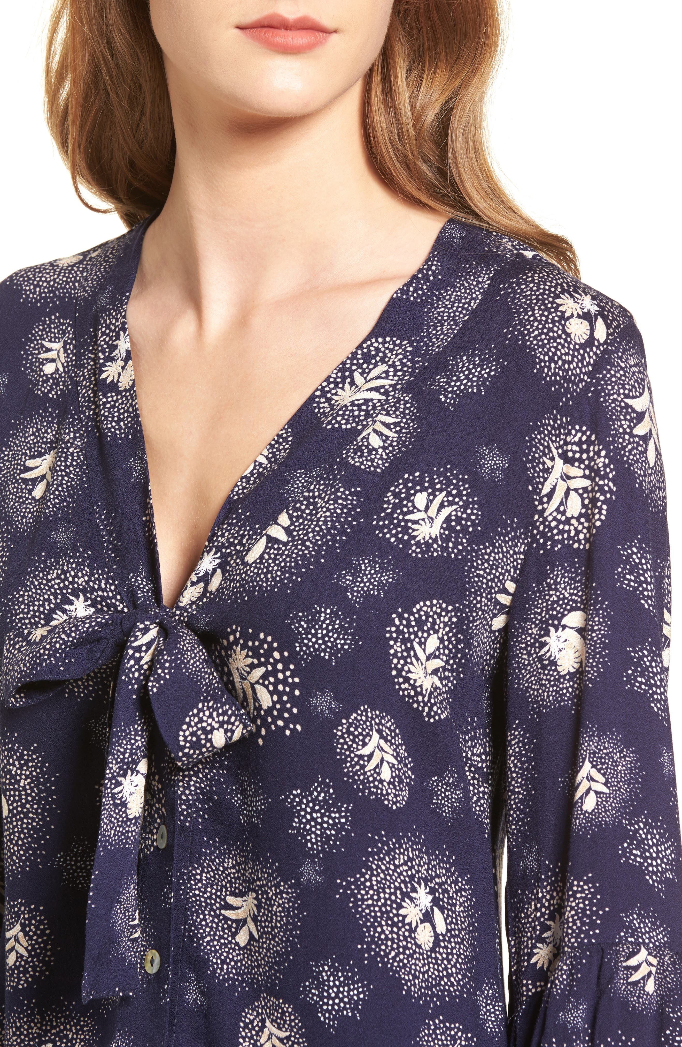Glimmering Nights Blouse,                             Alternate thumbnail 4, color,                             400