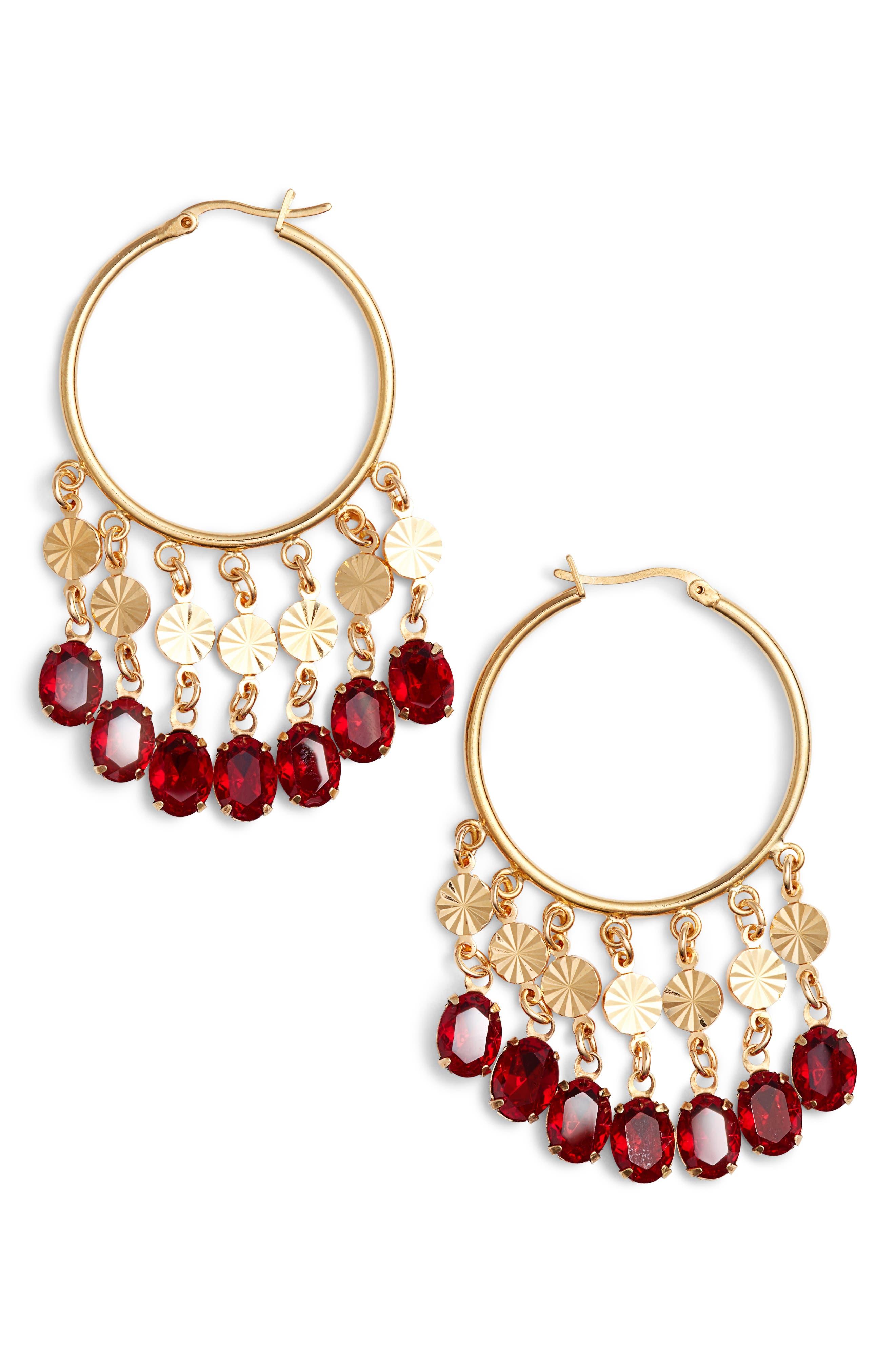 Cha Cha Hoop Earrings,                             Main thumbnail 1, color,                             710
