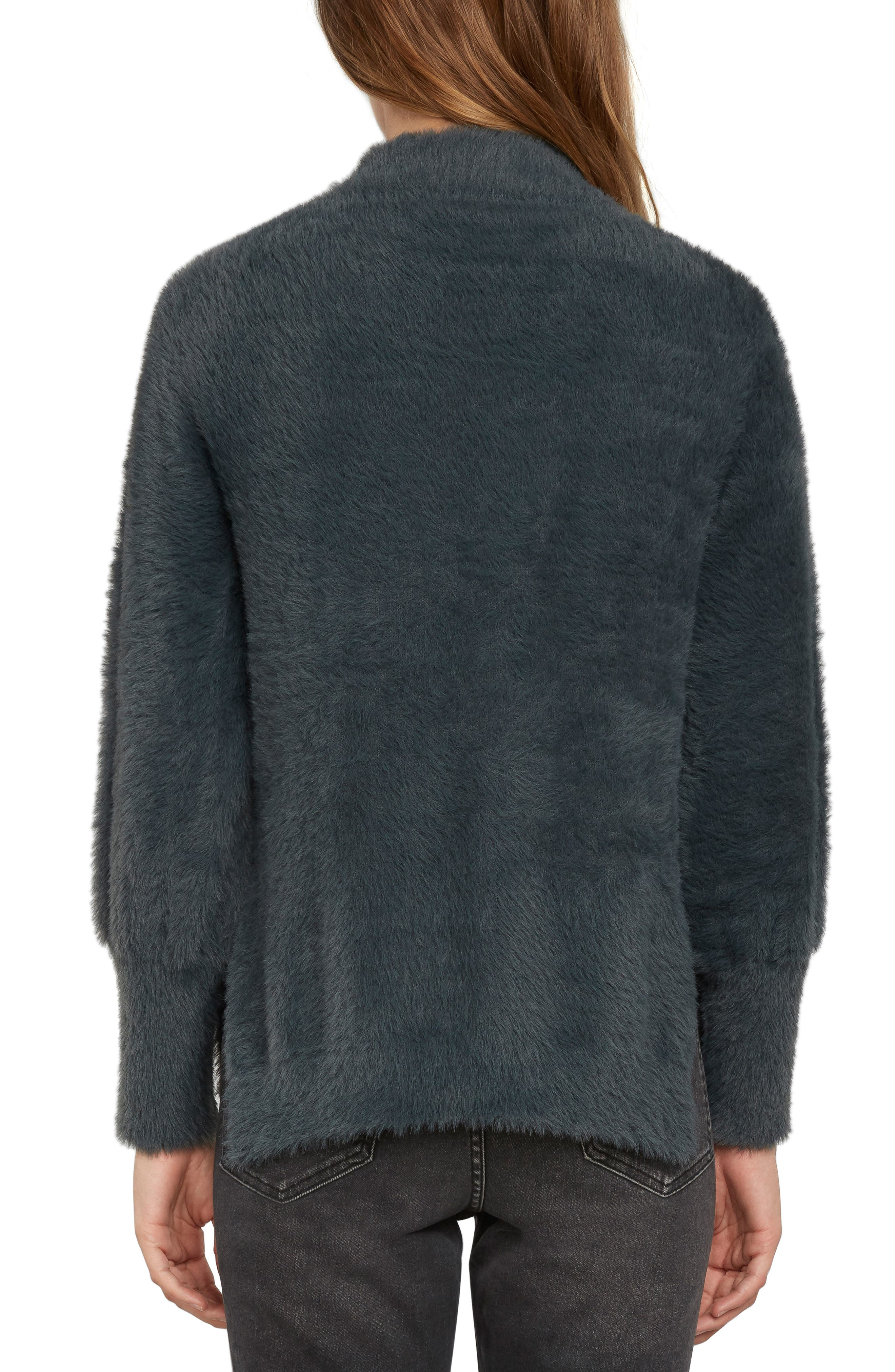 Fuzzy Mock Neck Sweater,                             Alternate thumbnail 2, color,                             025