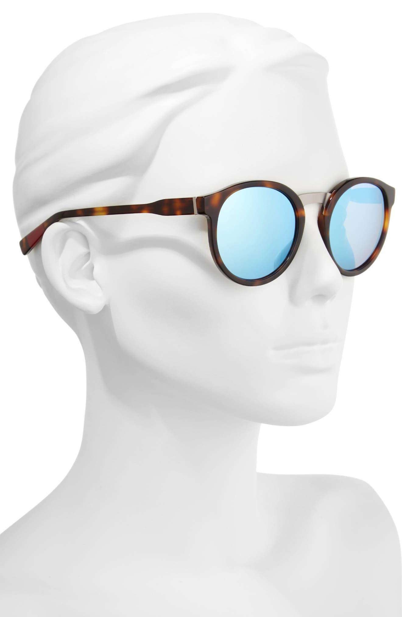 53mm Round Sunglasses,                             Alternate thumbnail 6, color,