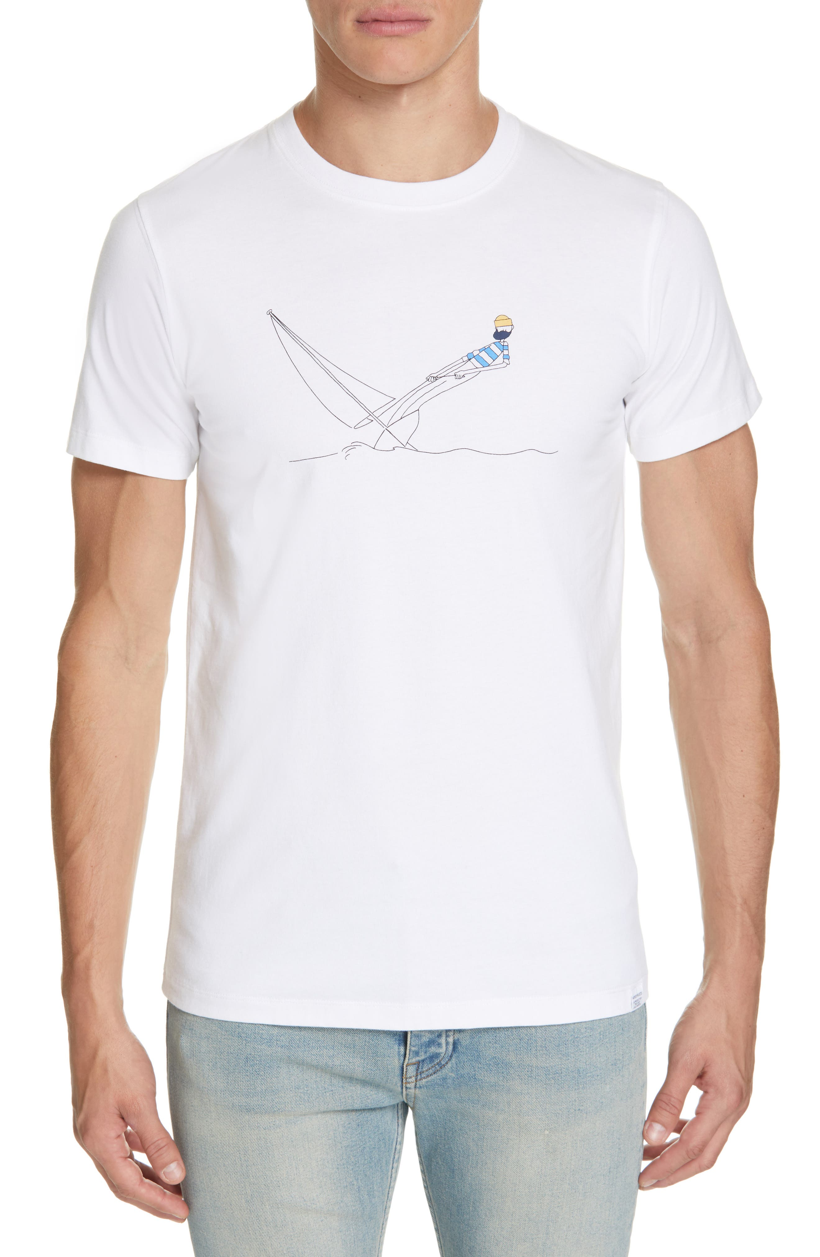 Daniel Frost - Hanging Graphic T-Shirt,                             Main thumbnail 1, color,                             WHITE