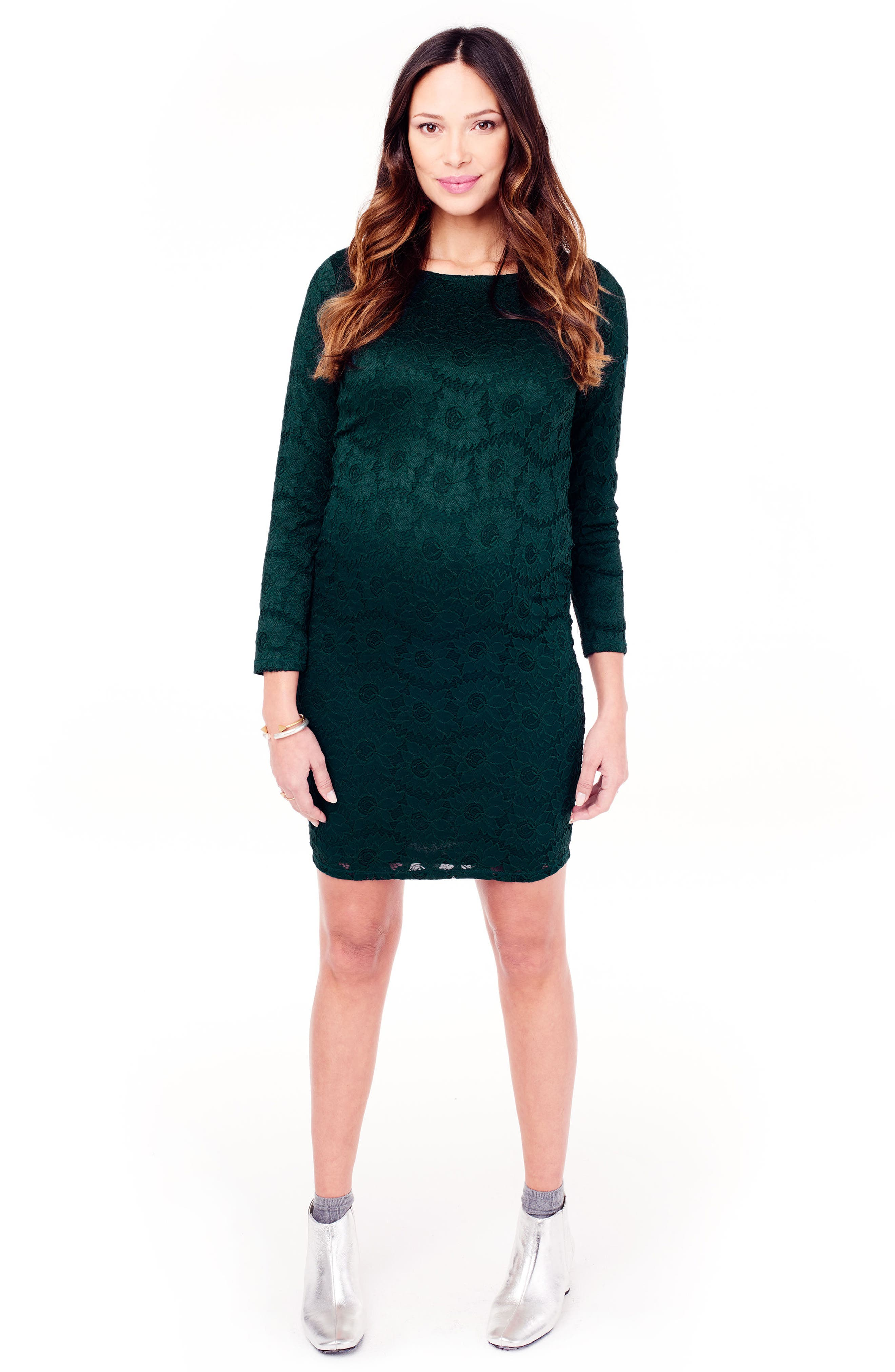 Ingrid & Isabel Lace Maternity Dress,                             Alternate thumbnail 5, color,                             301