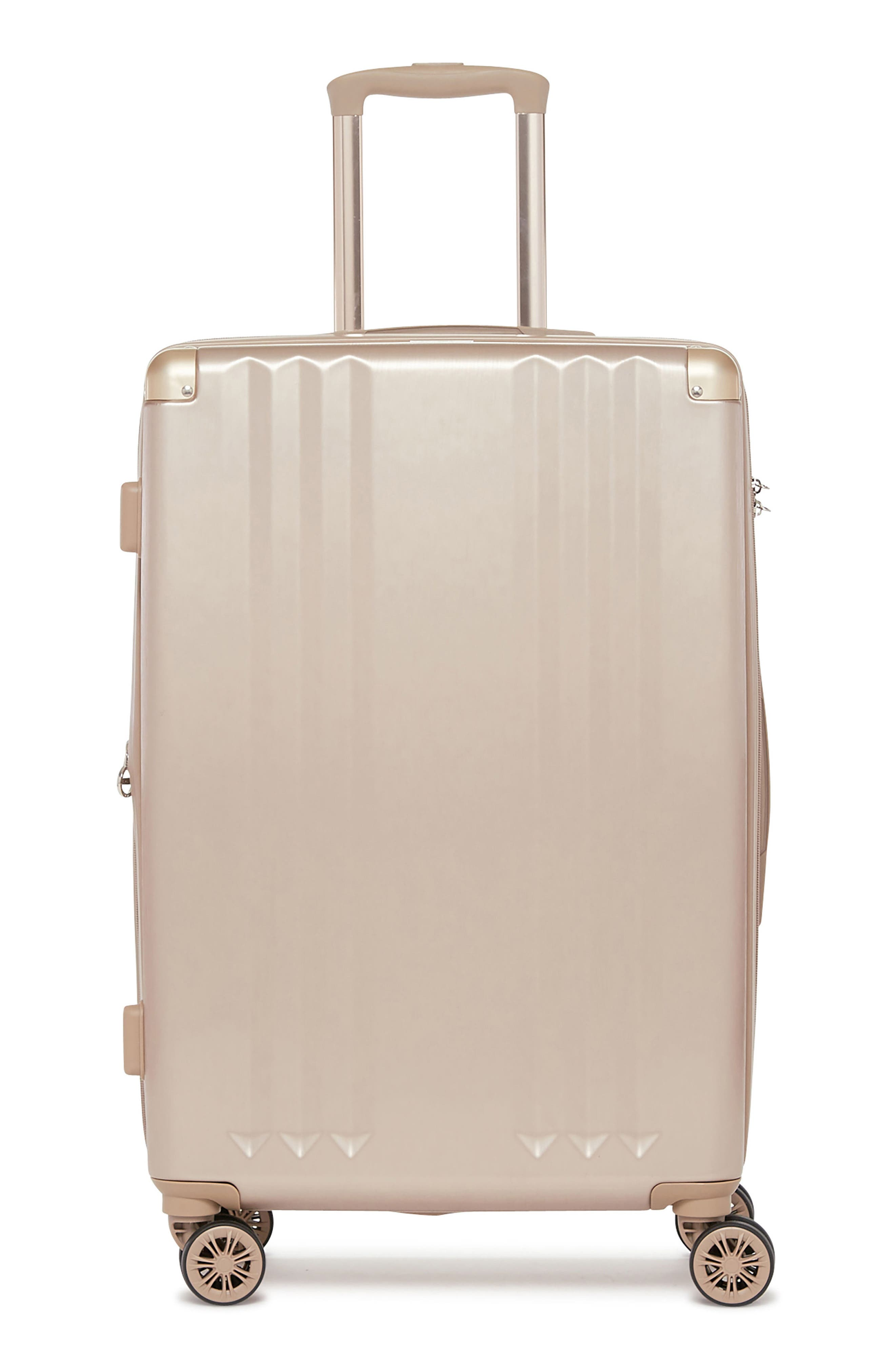 Ambeur 3-Piece Metallic Luggage Set,                         Main,                         color, GOLD