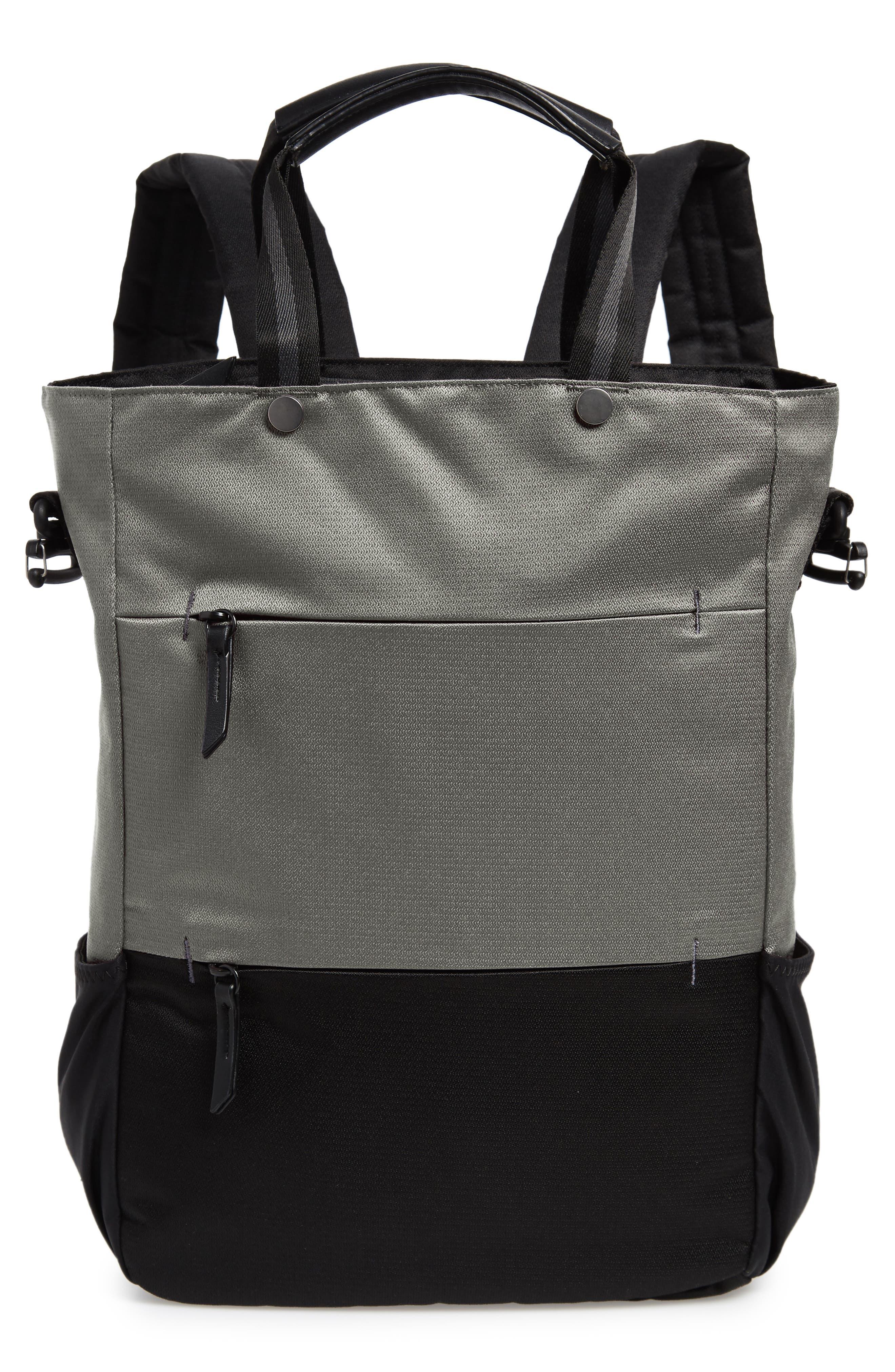 Camden RFID Convertible Backpack,                             Main thumbnail 1, color,                             GREY FLINT/ BLACK