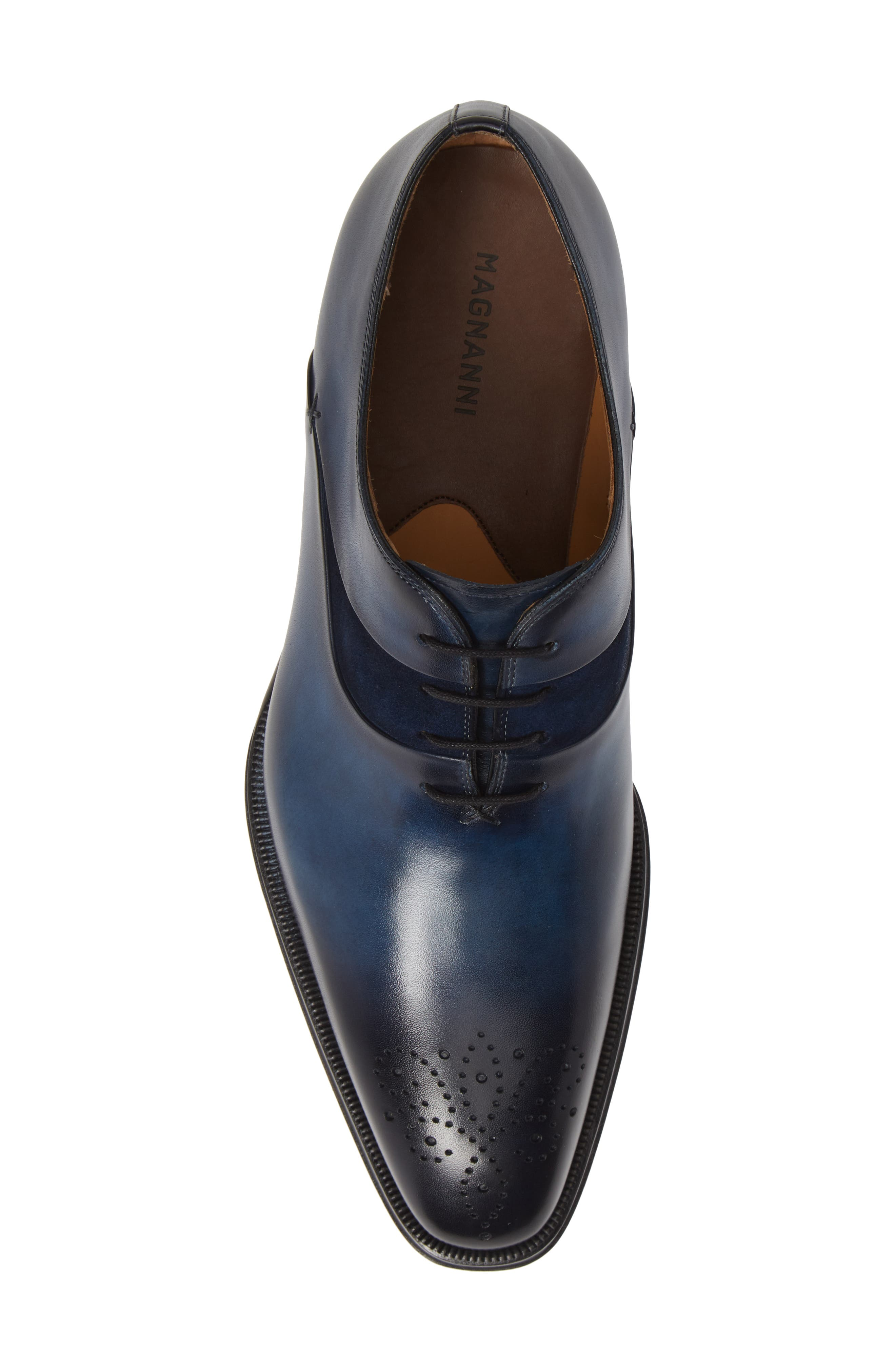 Hector Plain Toe Oxford,                             Alternate thumbnail 5, color,                             NAVY LEATHER