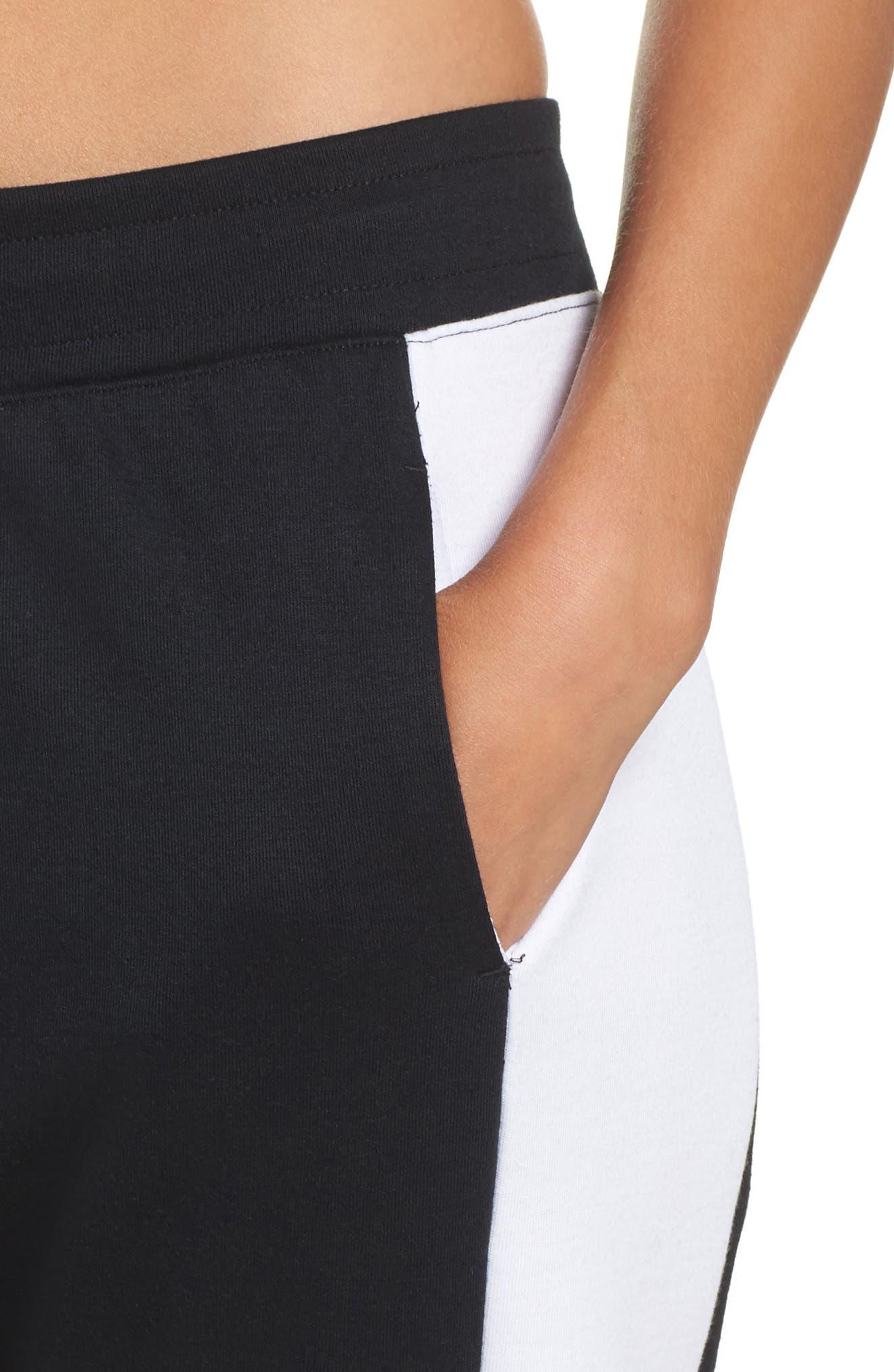 Colorblock Sweatpants,                             Alternate thumbnail 4, color,                             BLACK